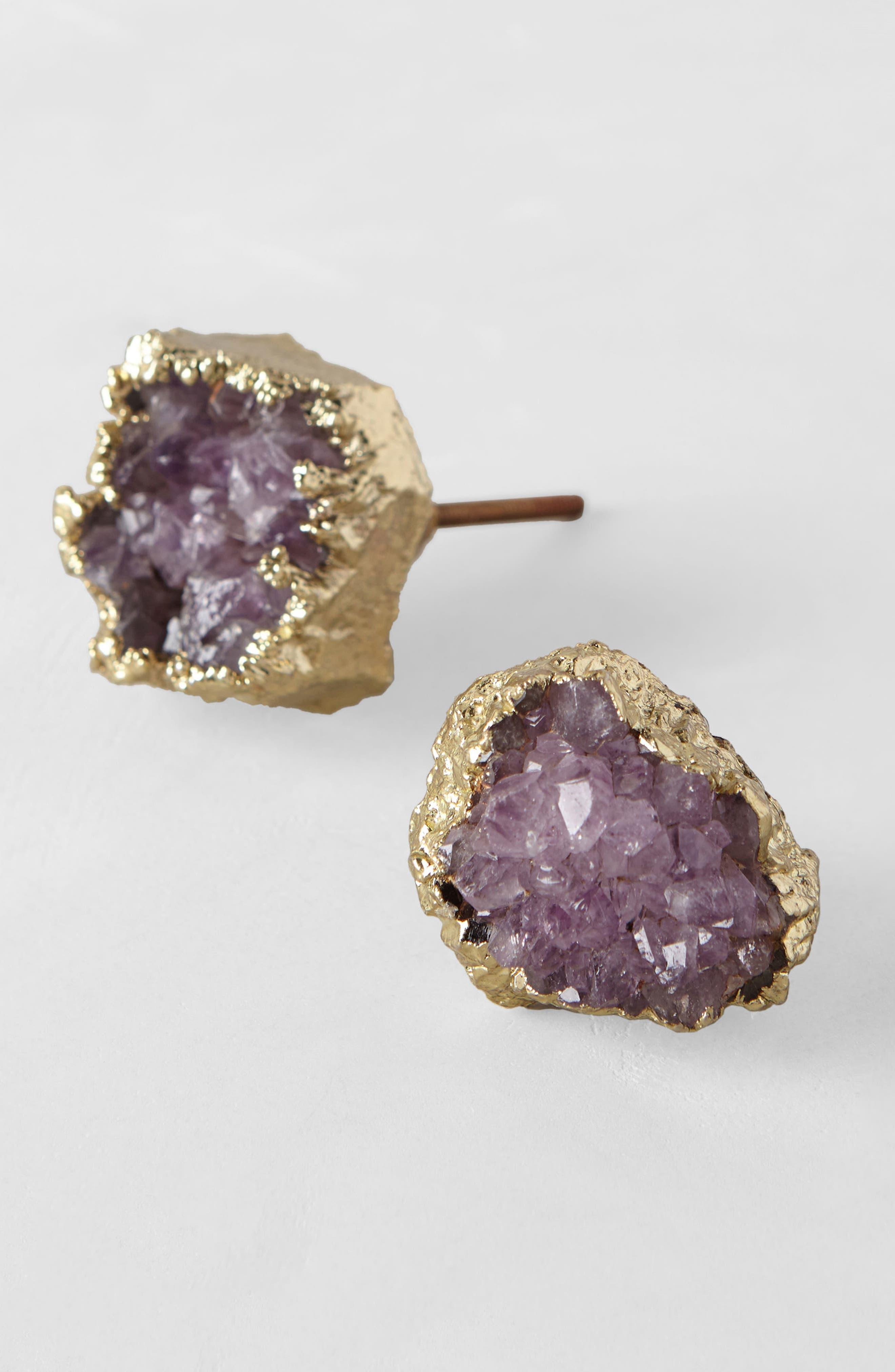 Crowned Quartz Knob,                             Alternate thumbnail 2, color,                             Purple