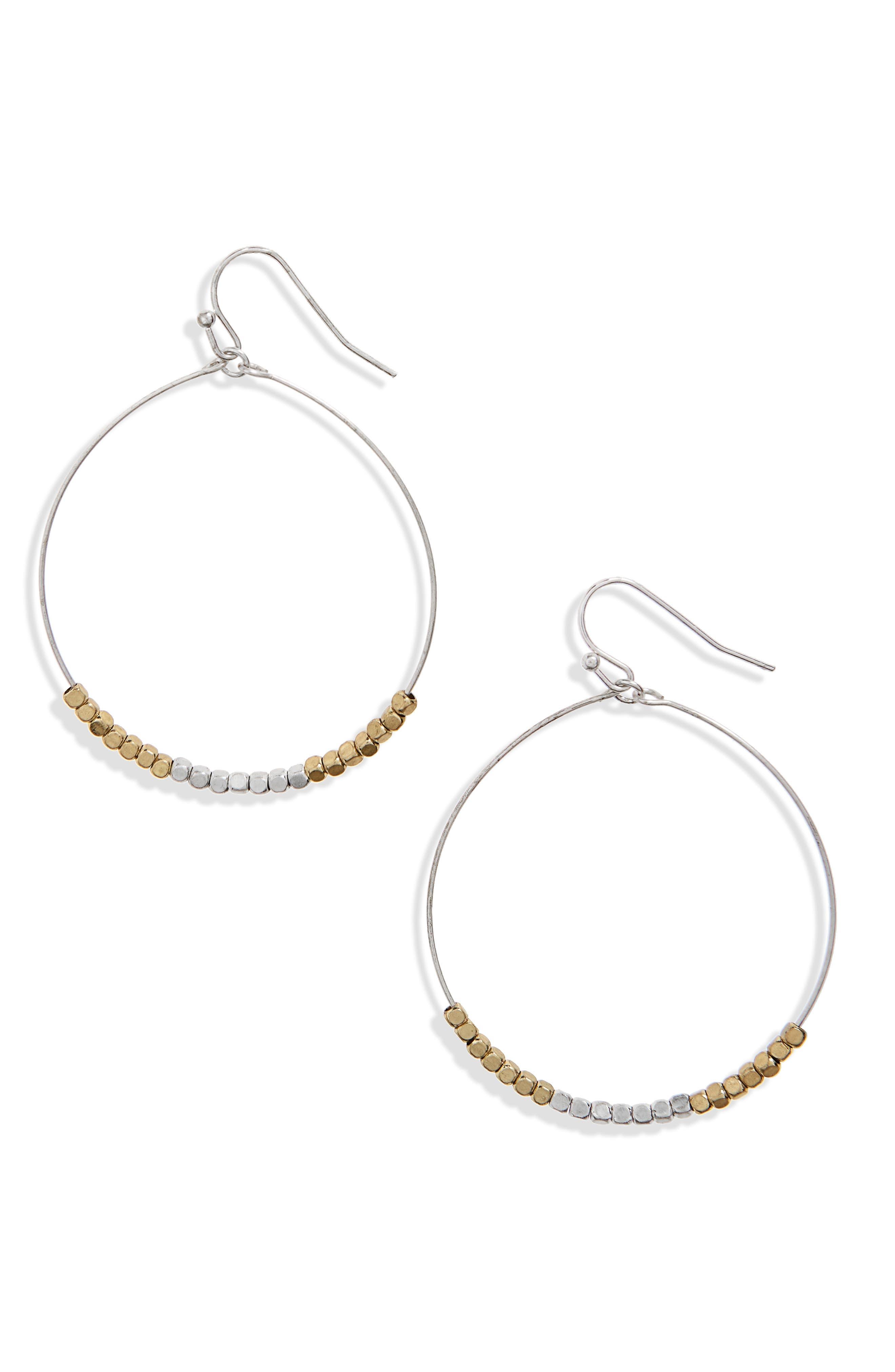 Canvas Jewelry Beaded Hoop Earrings