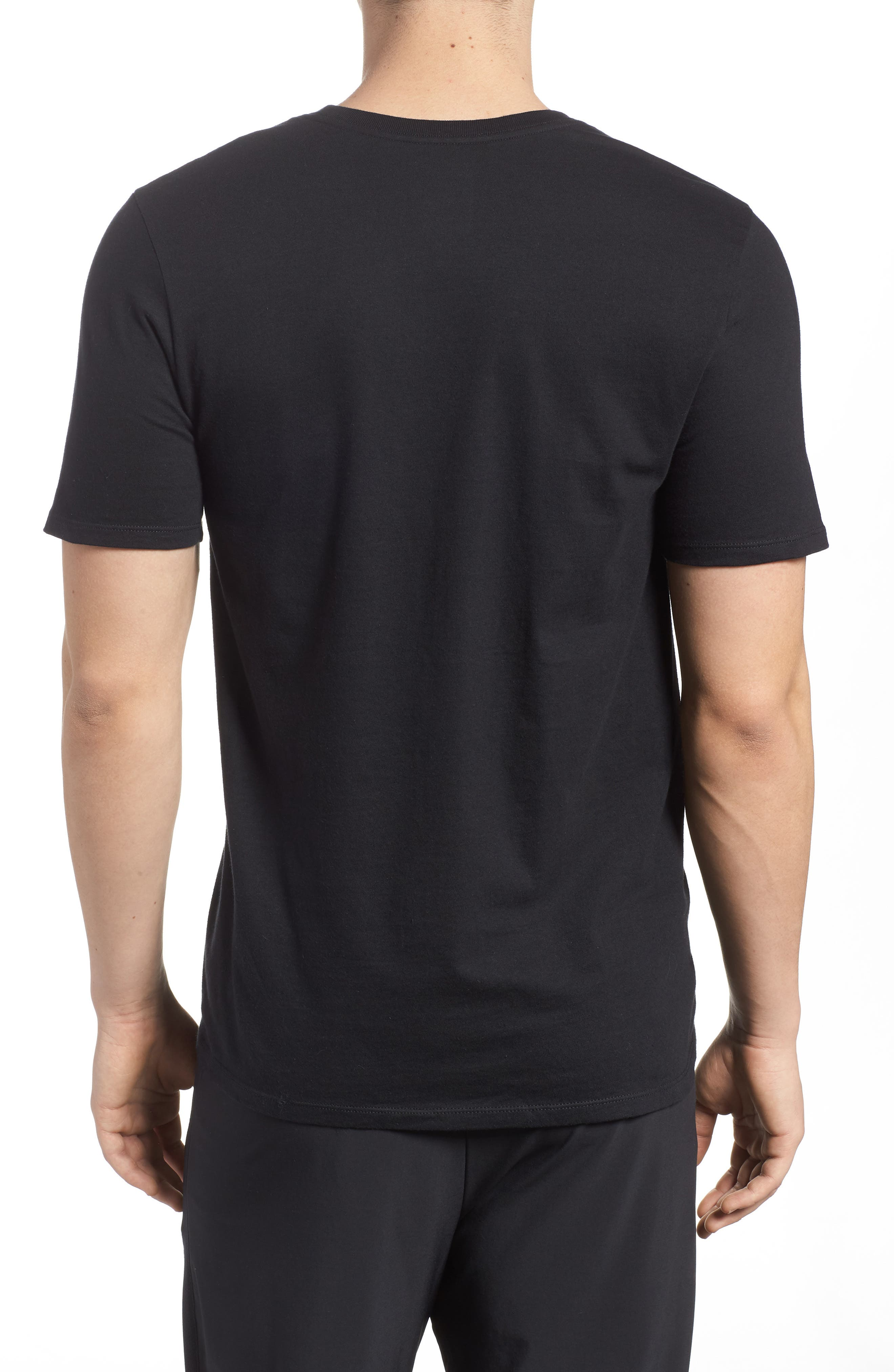 Sportswear Futura Logo Graphic T-Shirt,                             Alternate thumbnail 2, color,                             Black/ Vintage Wine