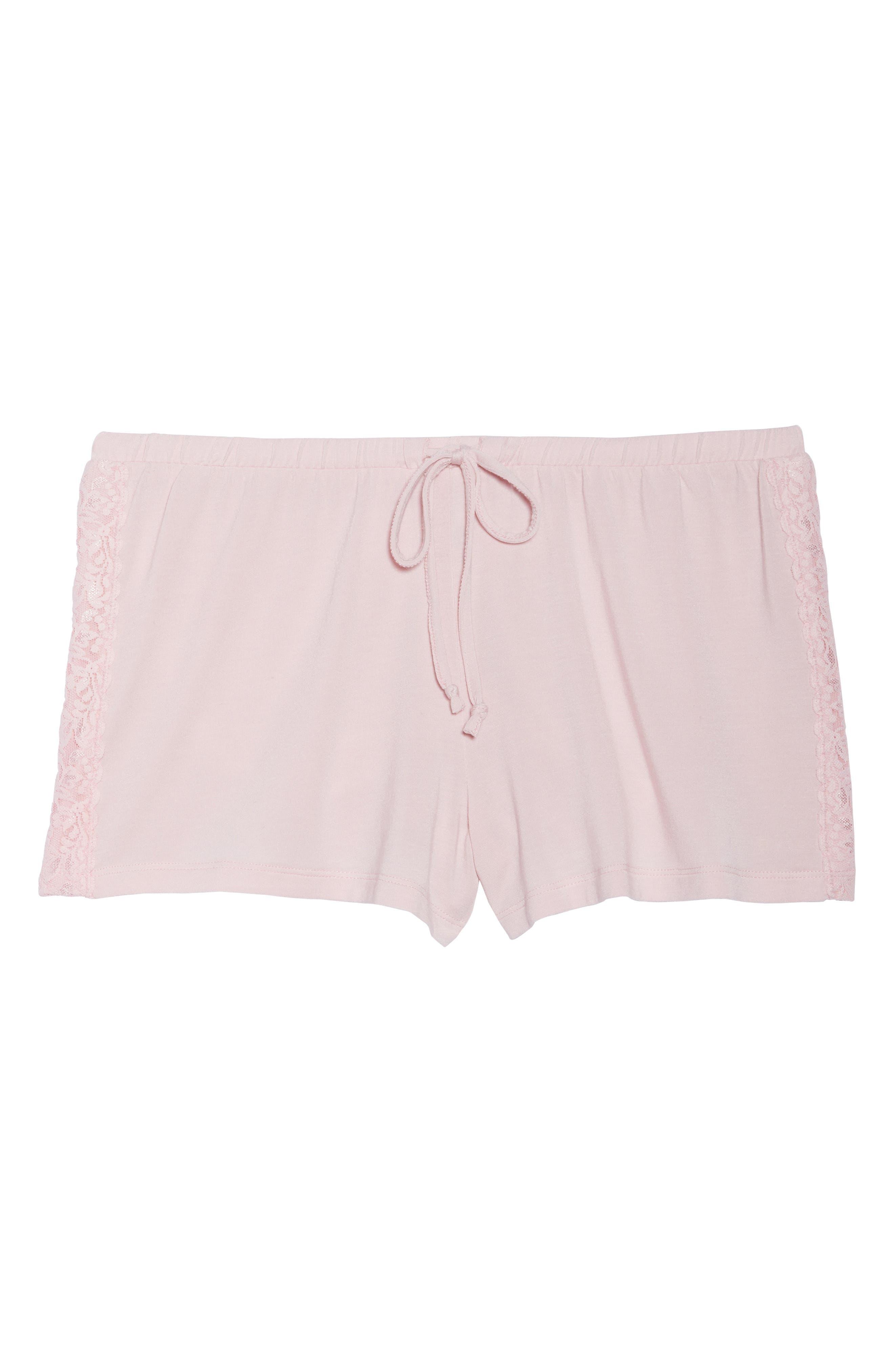Pajama Shorts,                             Alternate thumbnail 4, color,                             Pink