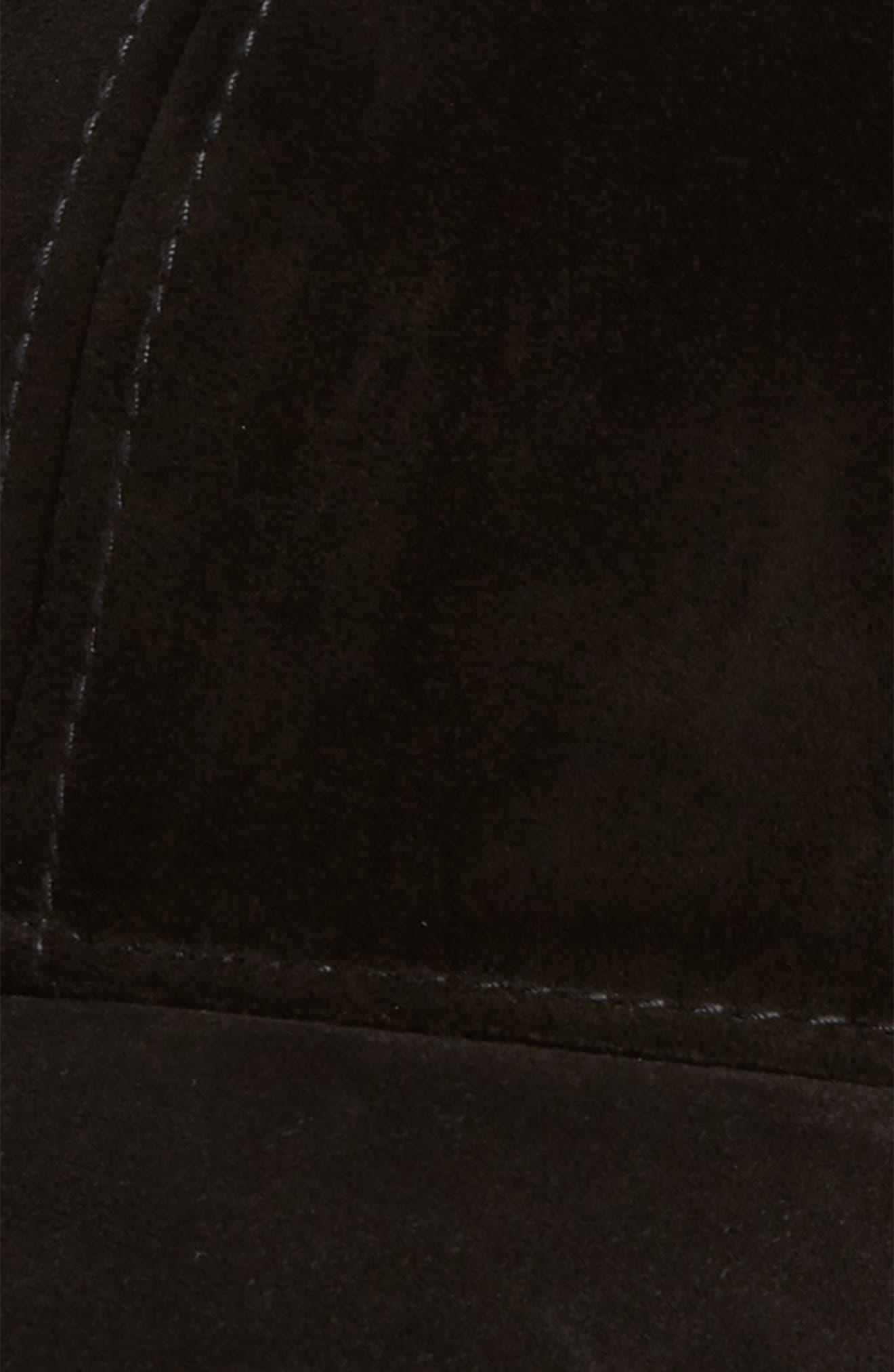 Lenox Ball Cap,                             Alternate thumbnail 3, color,                             Black Suede