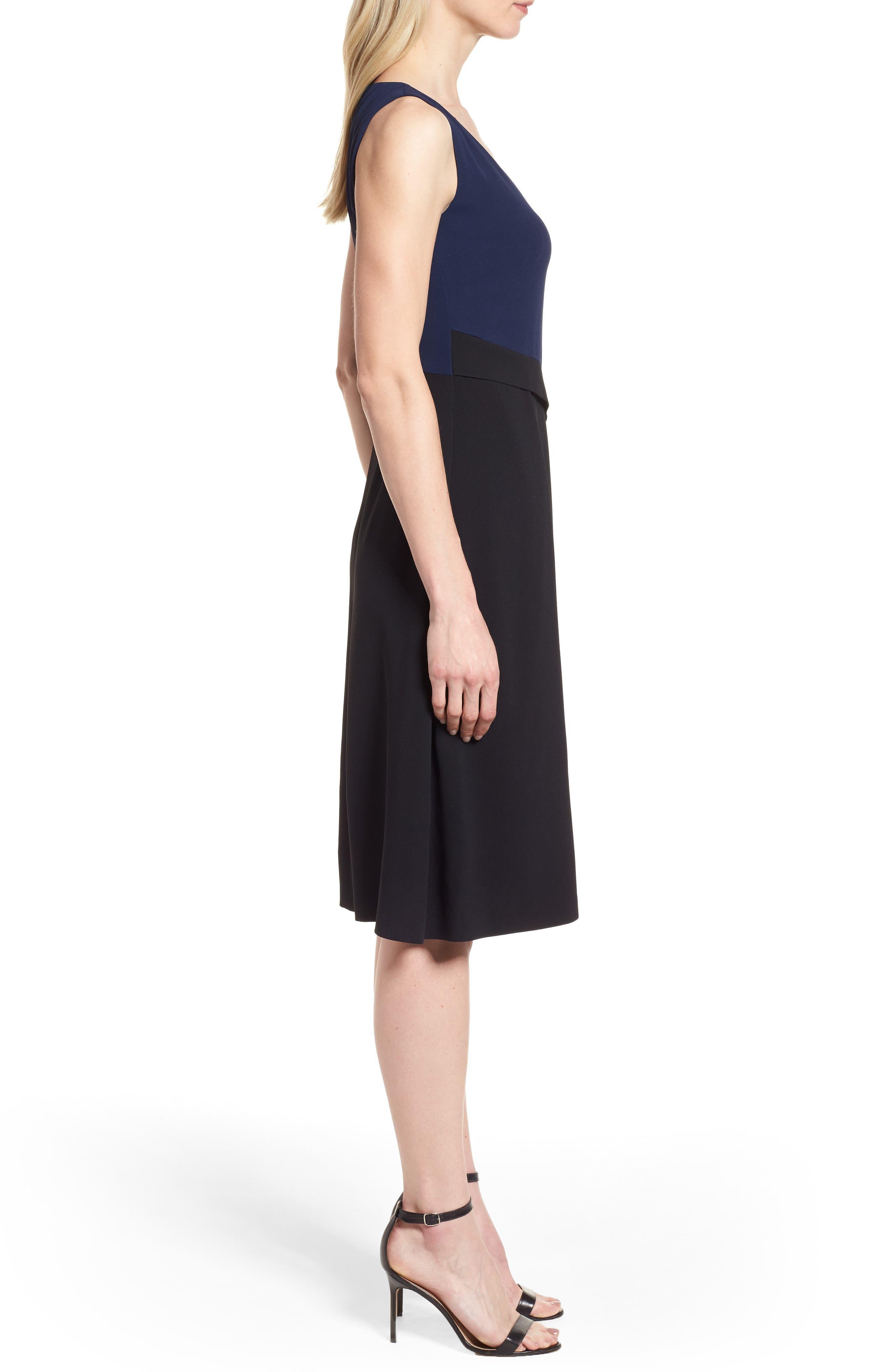 Demana A-Line Dress,                             Alternate thumbnail 3, color,                             Black