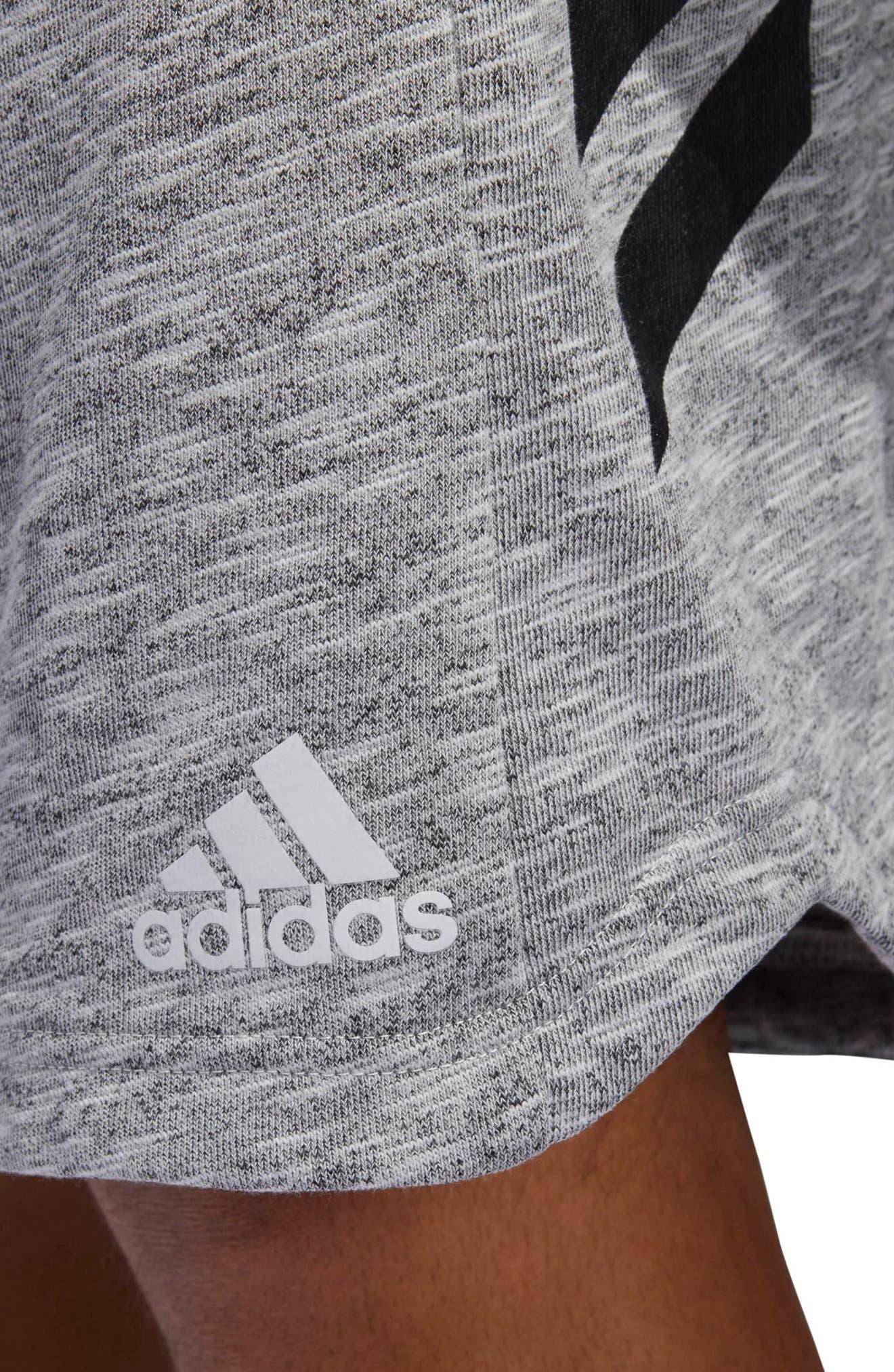 Pick Up Knit Shorts,                             Alternate thumbnail 5, color,                             Lgh Solid Grey