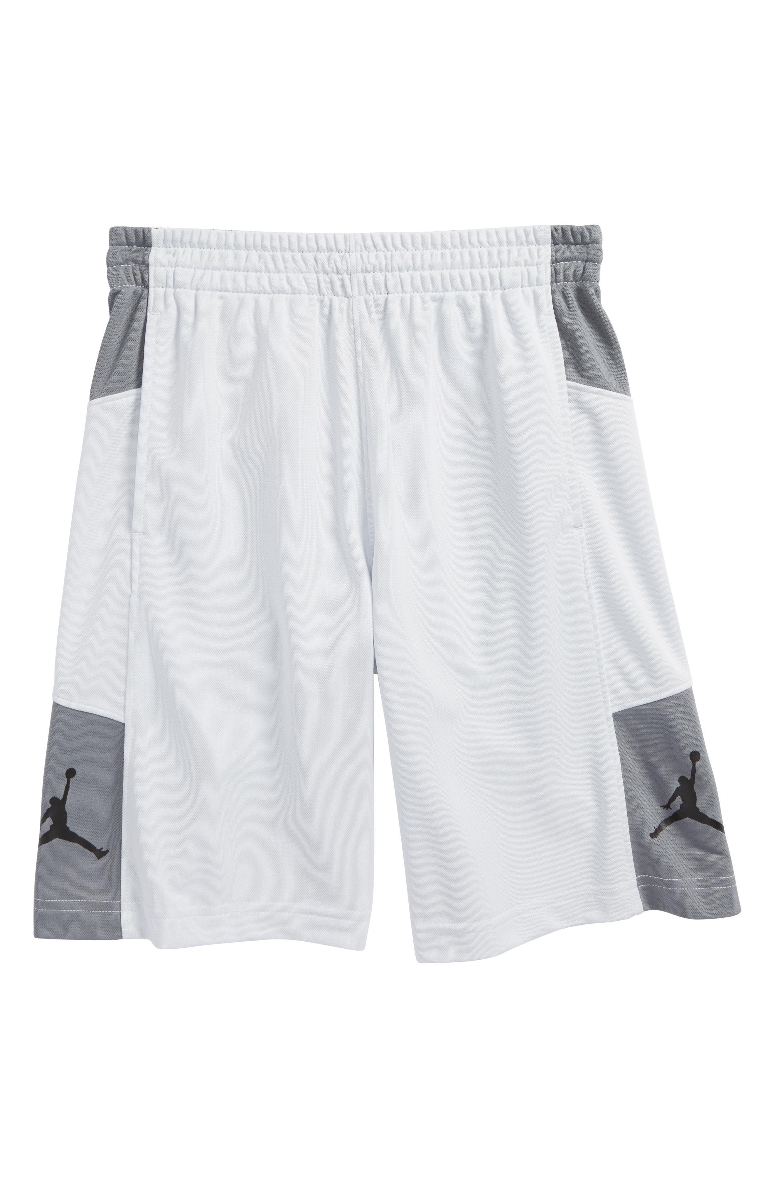 Jordan Elevate Shorts,                             Main thumbnail 1, color,                             Pure Platinum