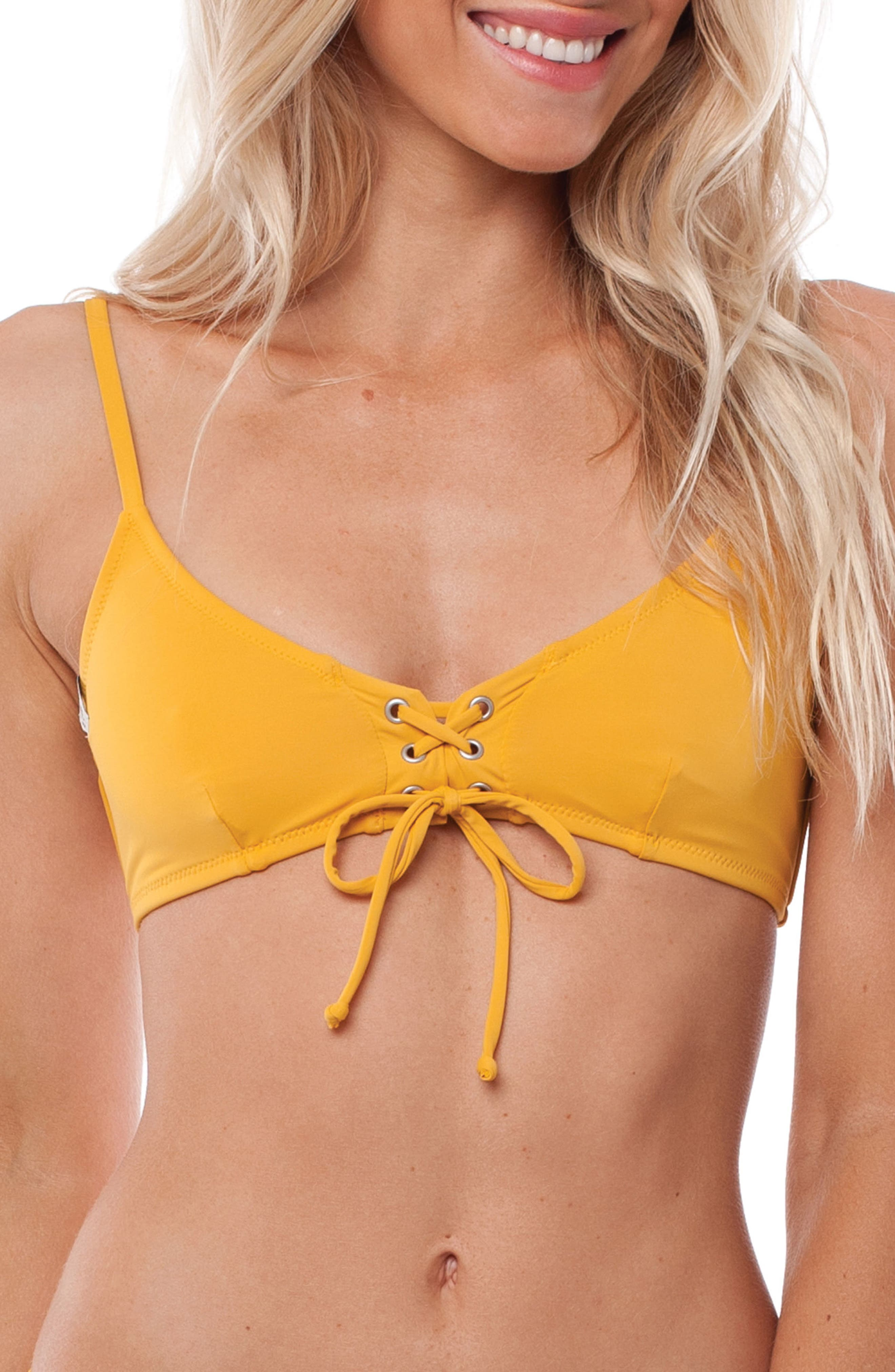 Sunchaser Bikini Top,                             Main thumbnail 1, color,                             Marigold