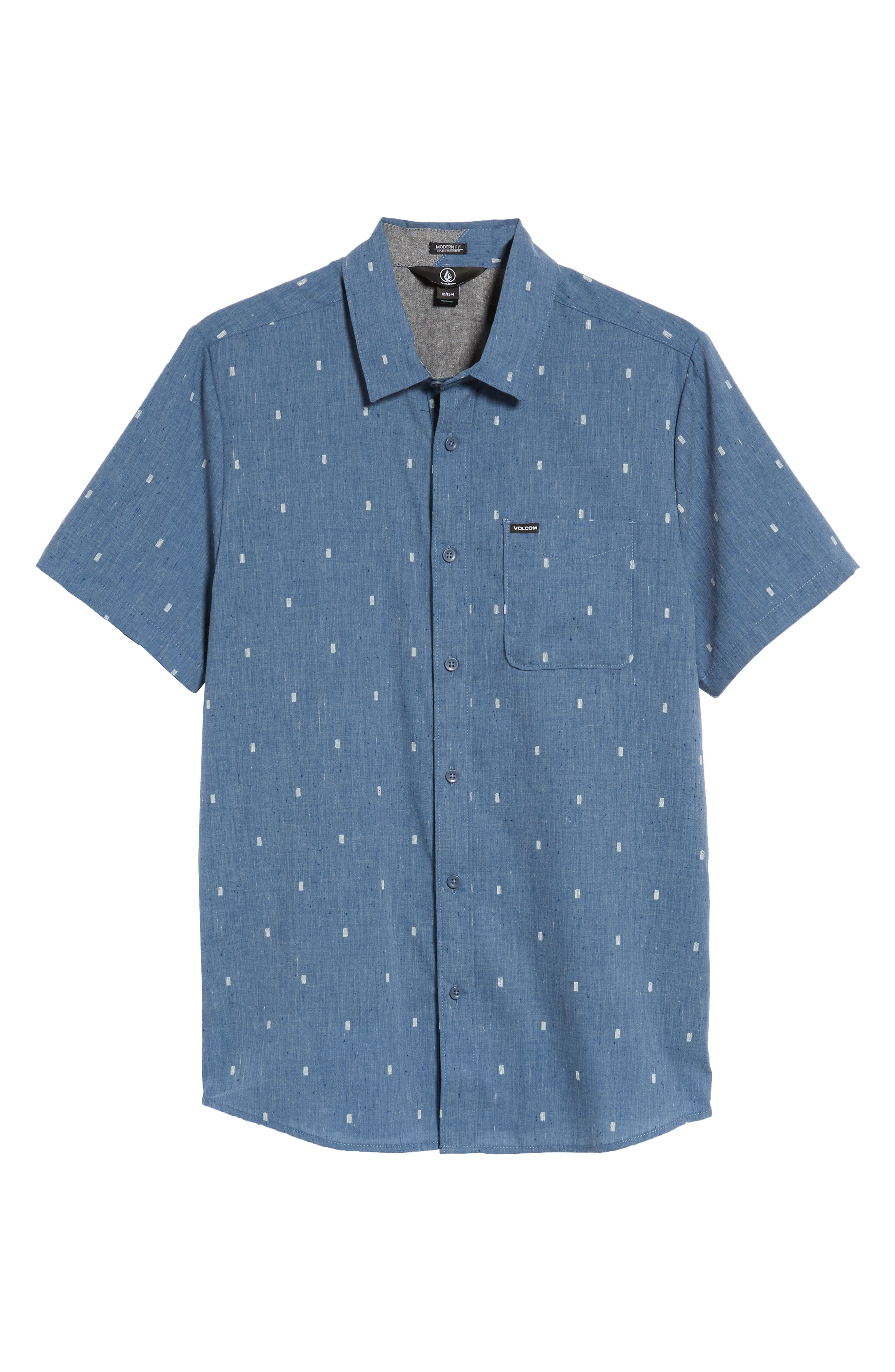 Gladstone Short Sleeve Shirt,                             Alternate thumbnail 6, color,                             Deep Blue