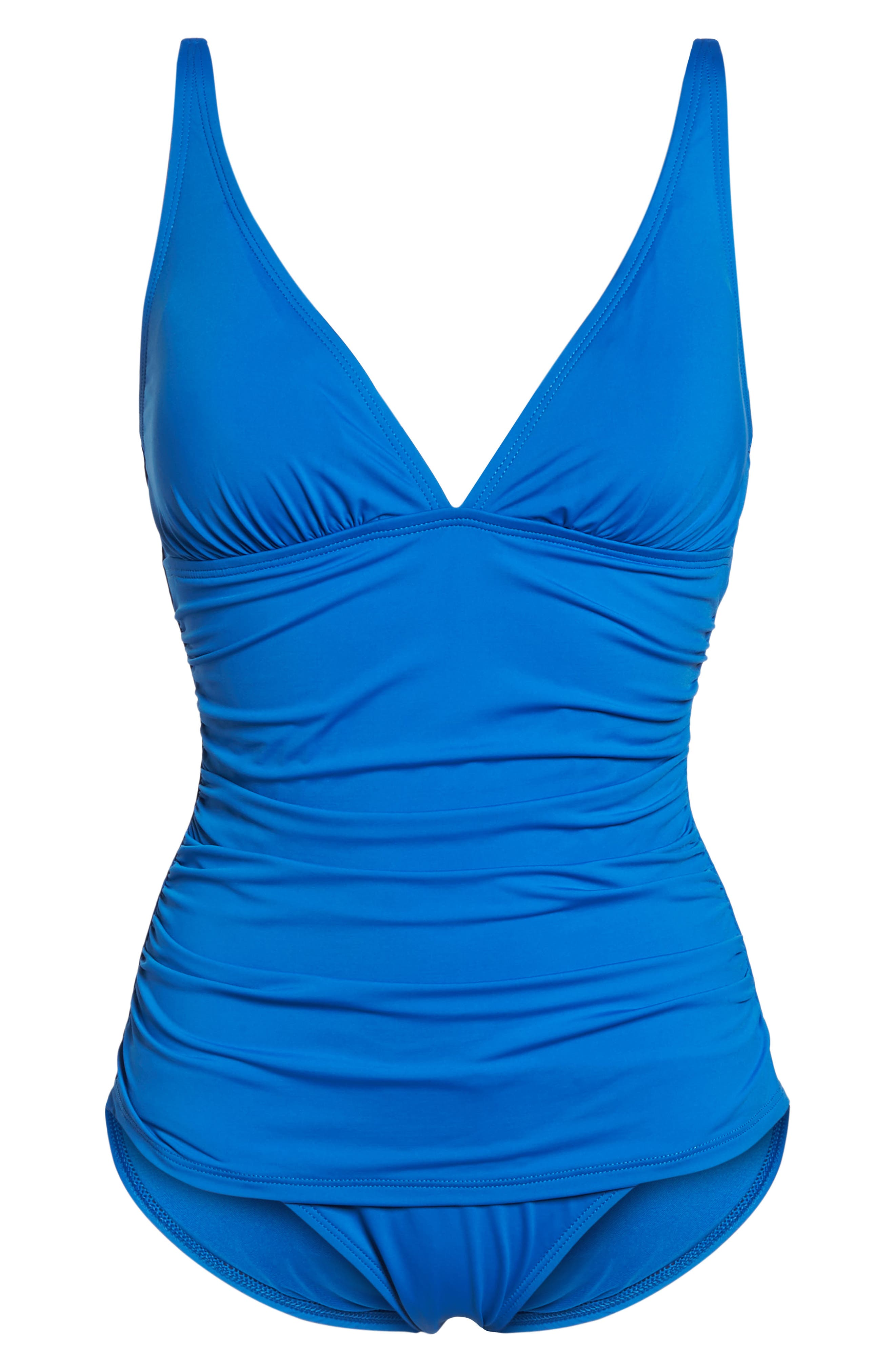 Pearl One-Piece Swimsuit,                             Alternate thumbnail 6, color,                             Cobalt Sea