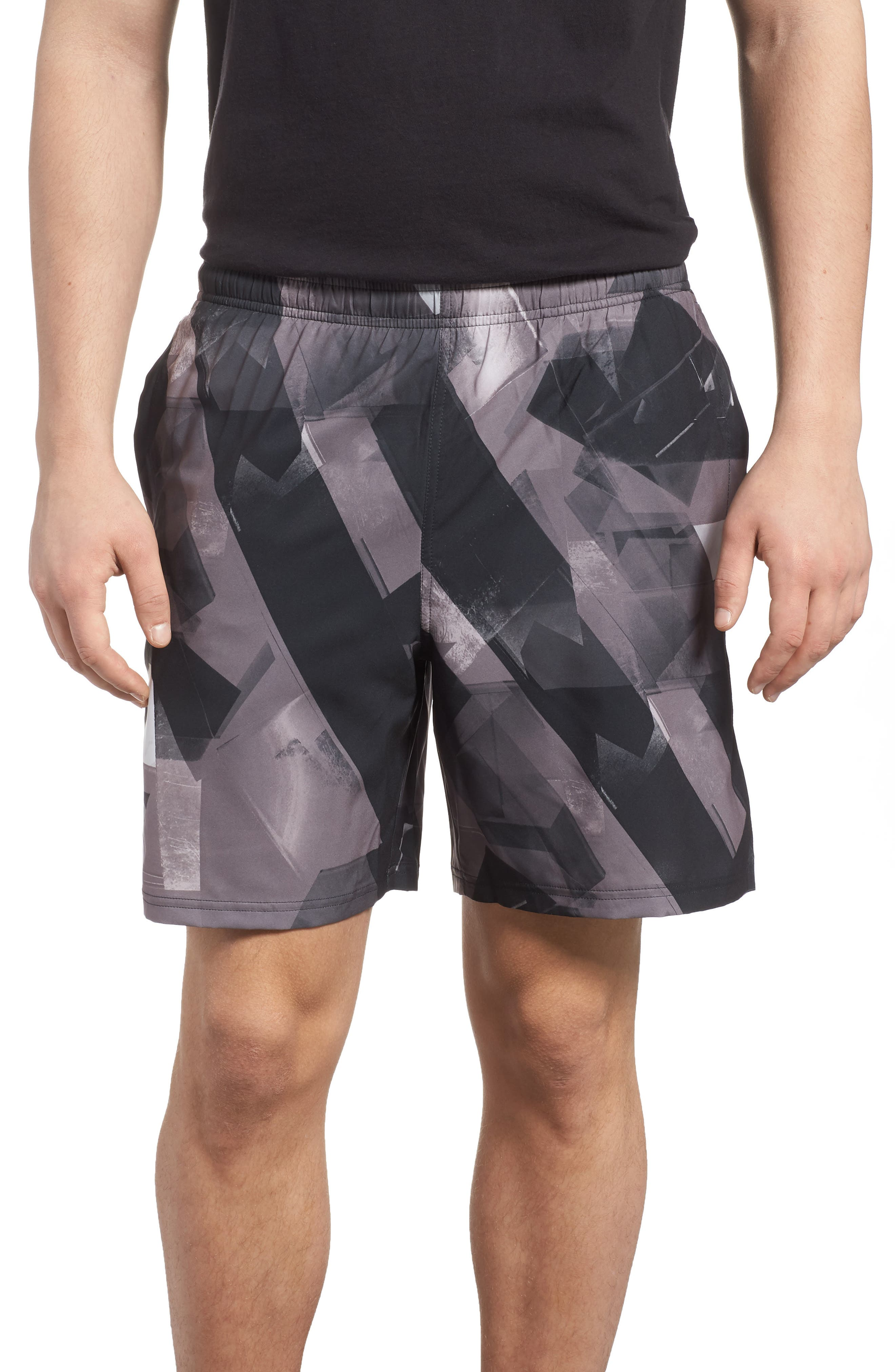 Launch Running Shorts,                         Main,                         color, Anthracite/ Black/ Reflective