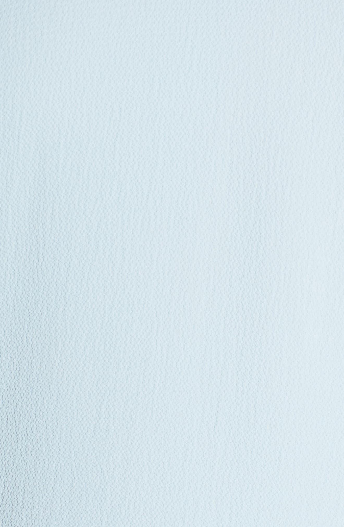Bubble Sleeve Blouse,                             Alternate thumbnail 6, color,                             Dew Blue