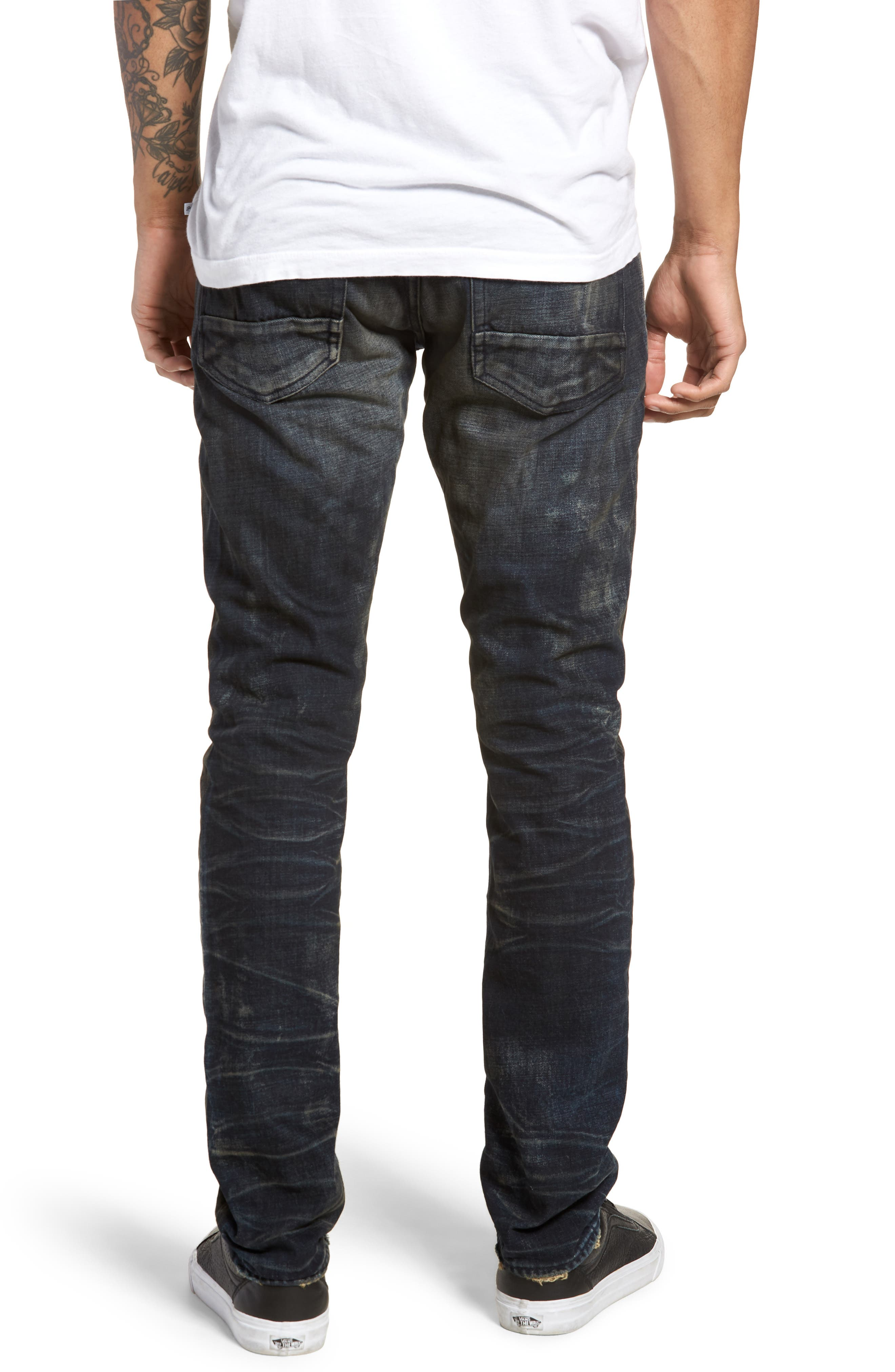 Demon Slim Straight Fit Jeans,                             Alternate thumbnail 2, color,                             Linger