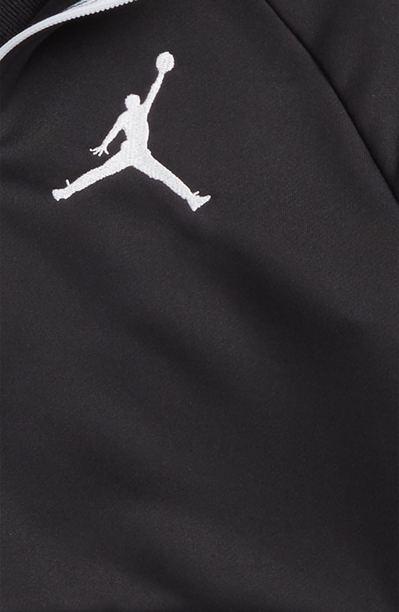 Jordan AJ 90s Tricot Jacket,                             Alternate thumbnail 2, color,                             Black