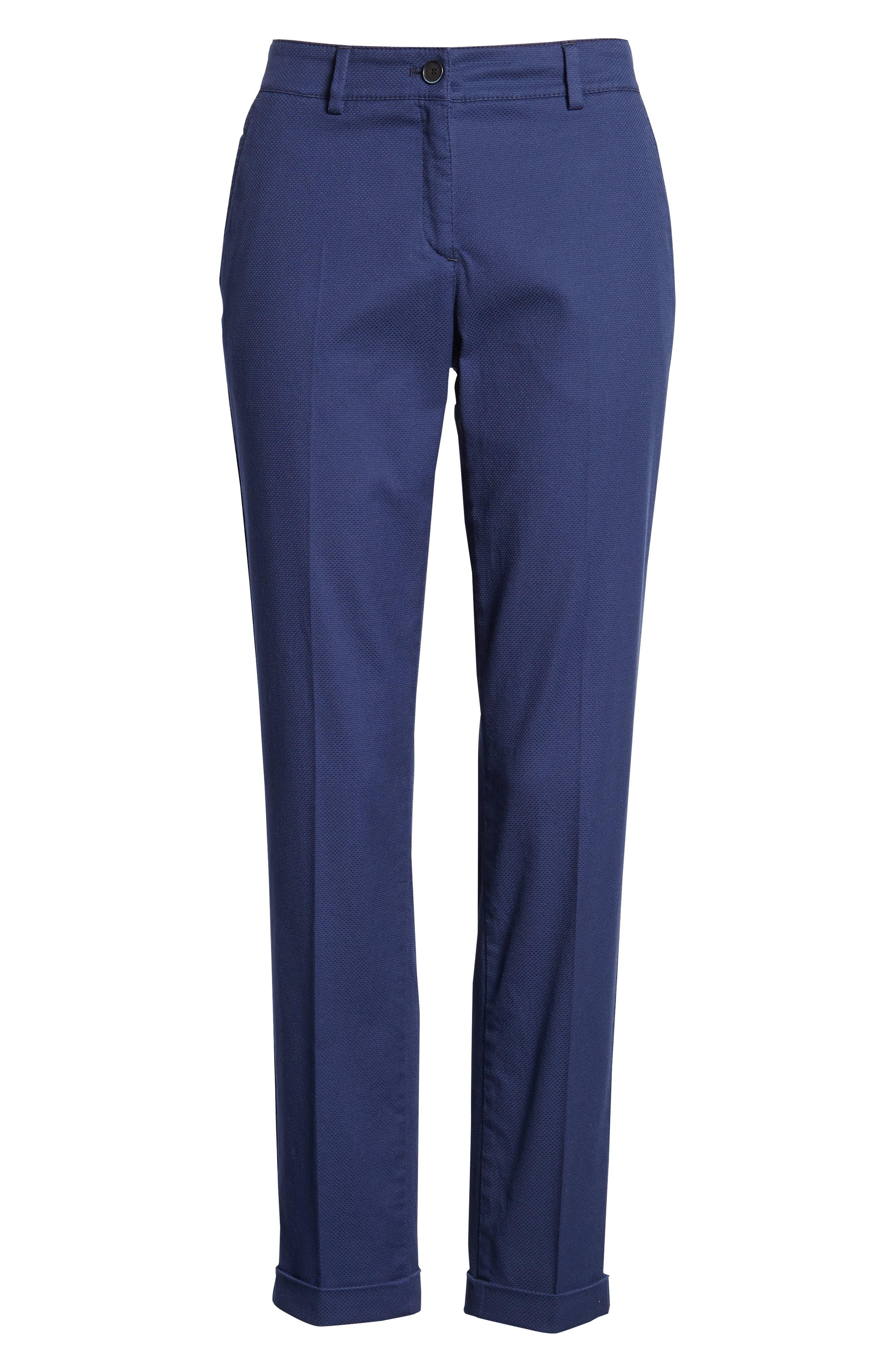 Maron Cuffed Straight Leg Pants,                             Alternate thumbnail 7, color,                             Navy