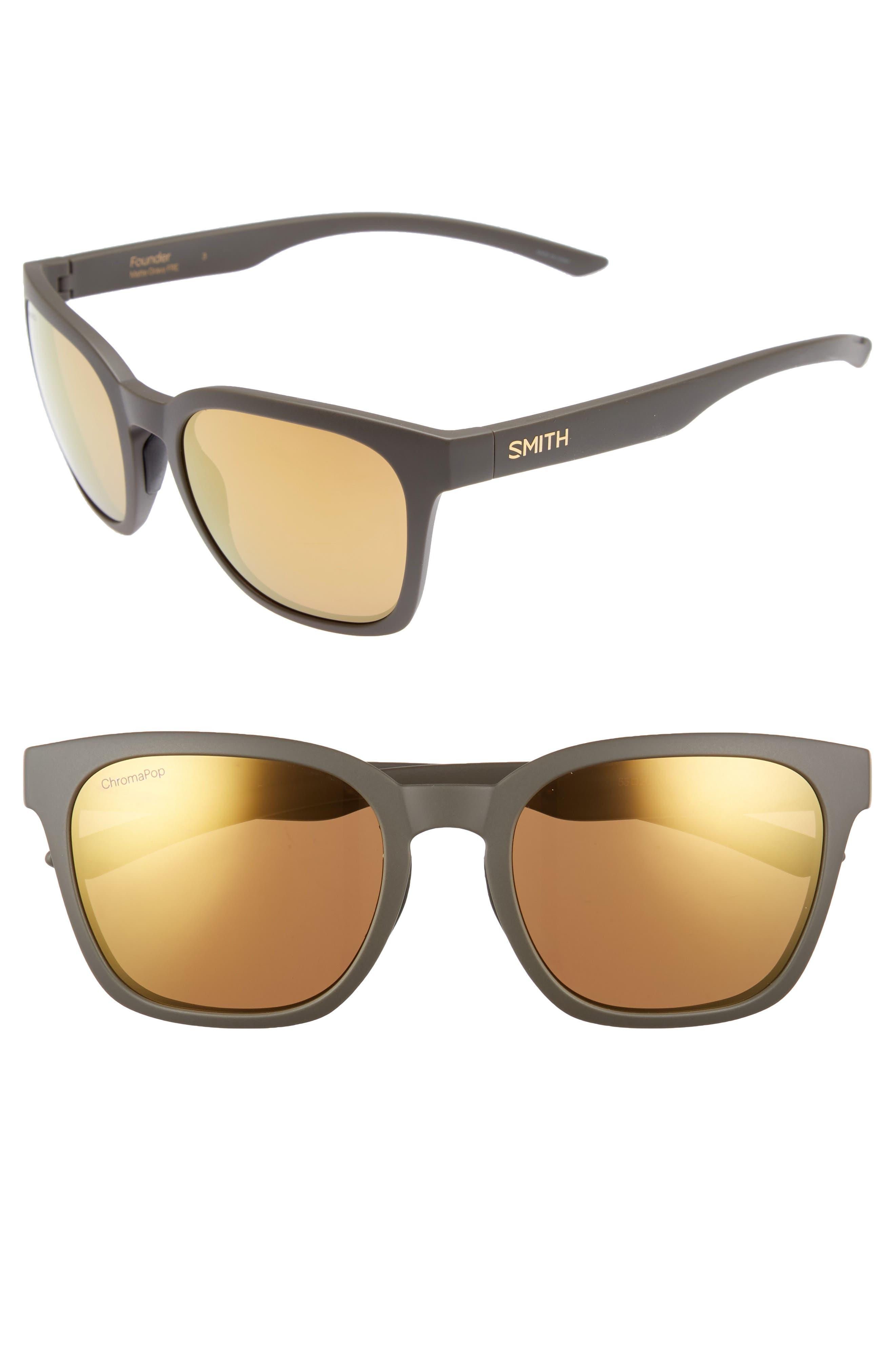 Founder 55mm ChromaPop<sup>™</sup> Polarized Sunglasses,                         Main,                         color, Matte Gravy
