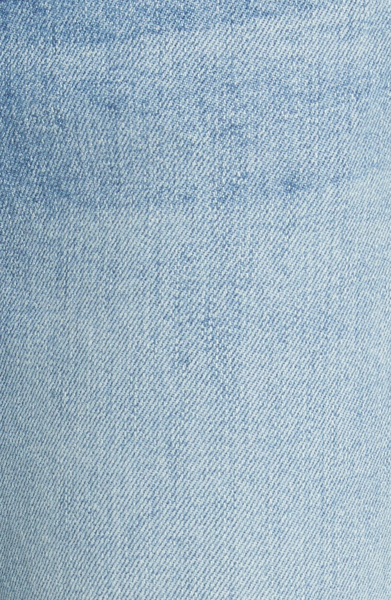 High Waist Crop Jeans,                             Alternate thumbnail 5, color,                             Dark Wash