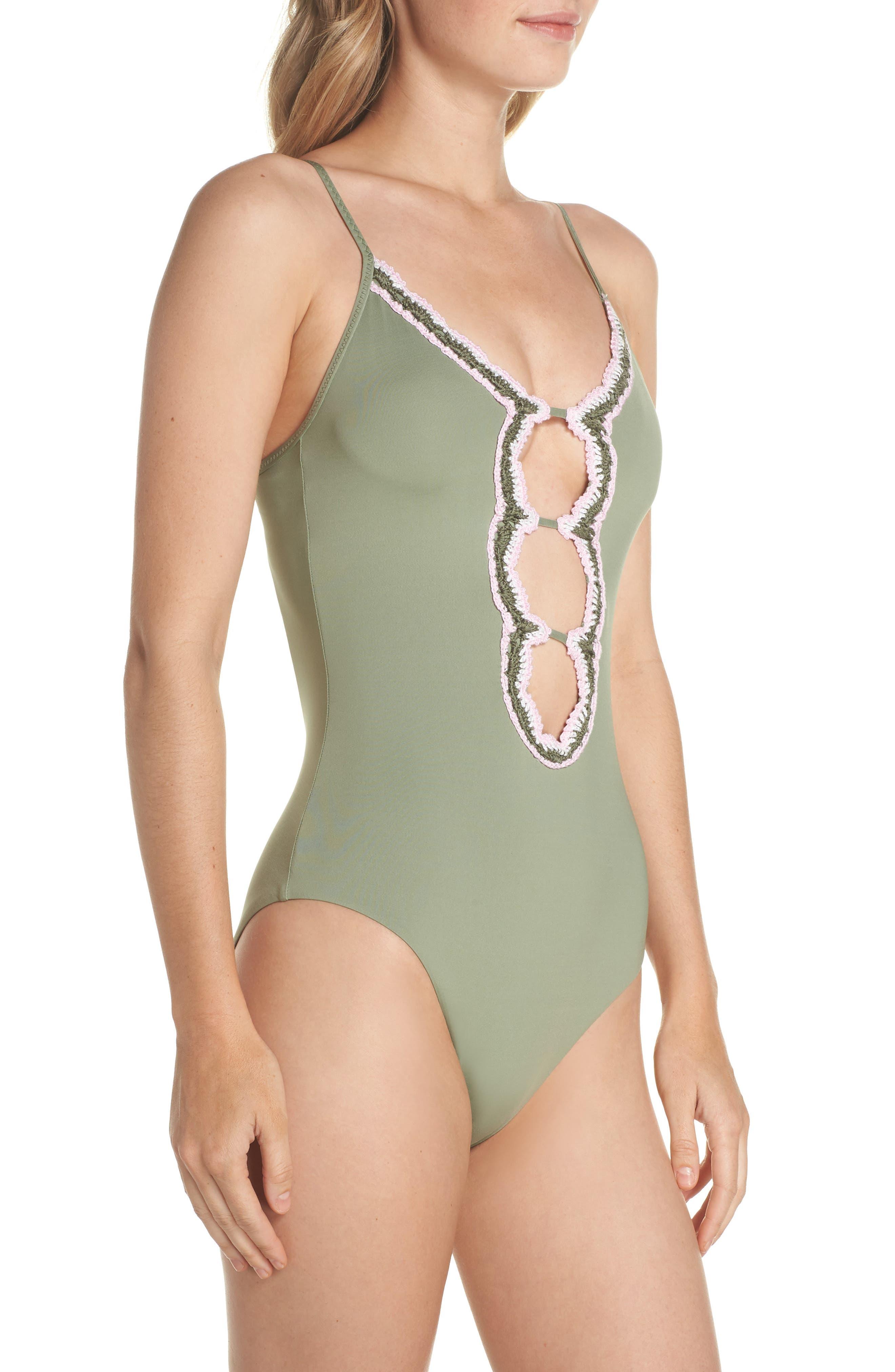 Medina One-Piece Swimsuit,                             Alternate thumbnail 3, color,                             Mojito