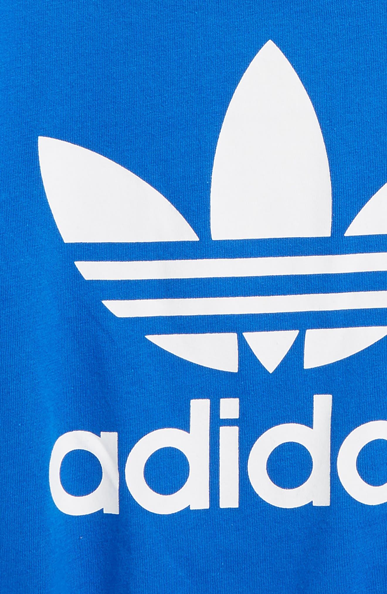 Alternate Image 2  - adidas Trefoil Logo T-Shirt (Little Boys & Big Boys)