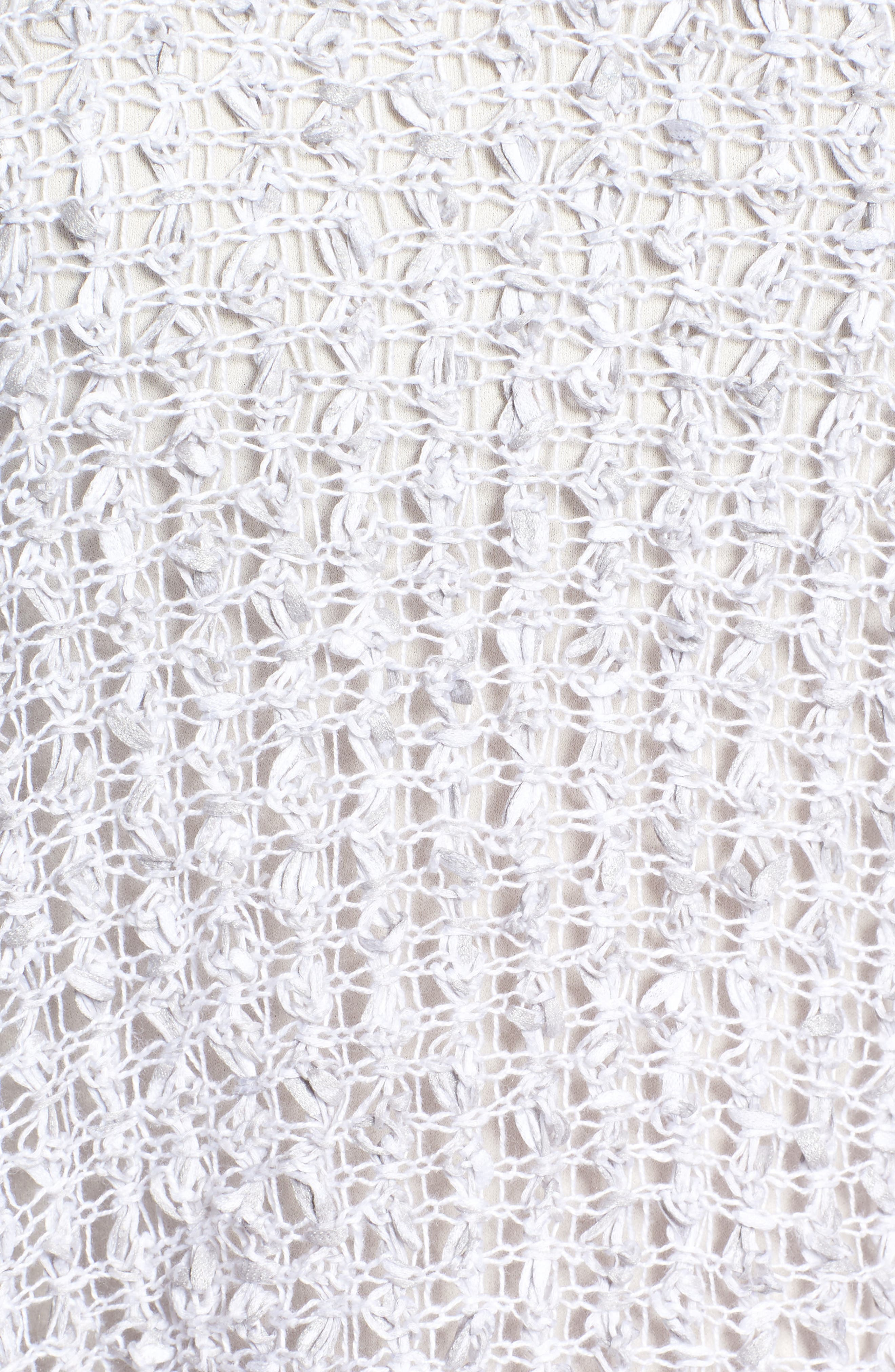 Organic Cotton & Linen Crochet Top,                             Alternate thumbnail 6, color,                             Dark Pearl