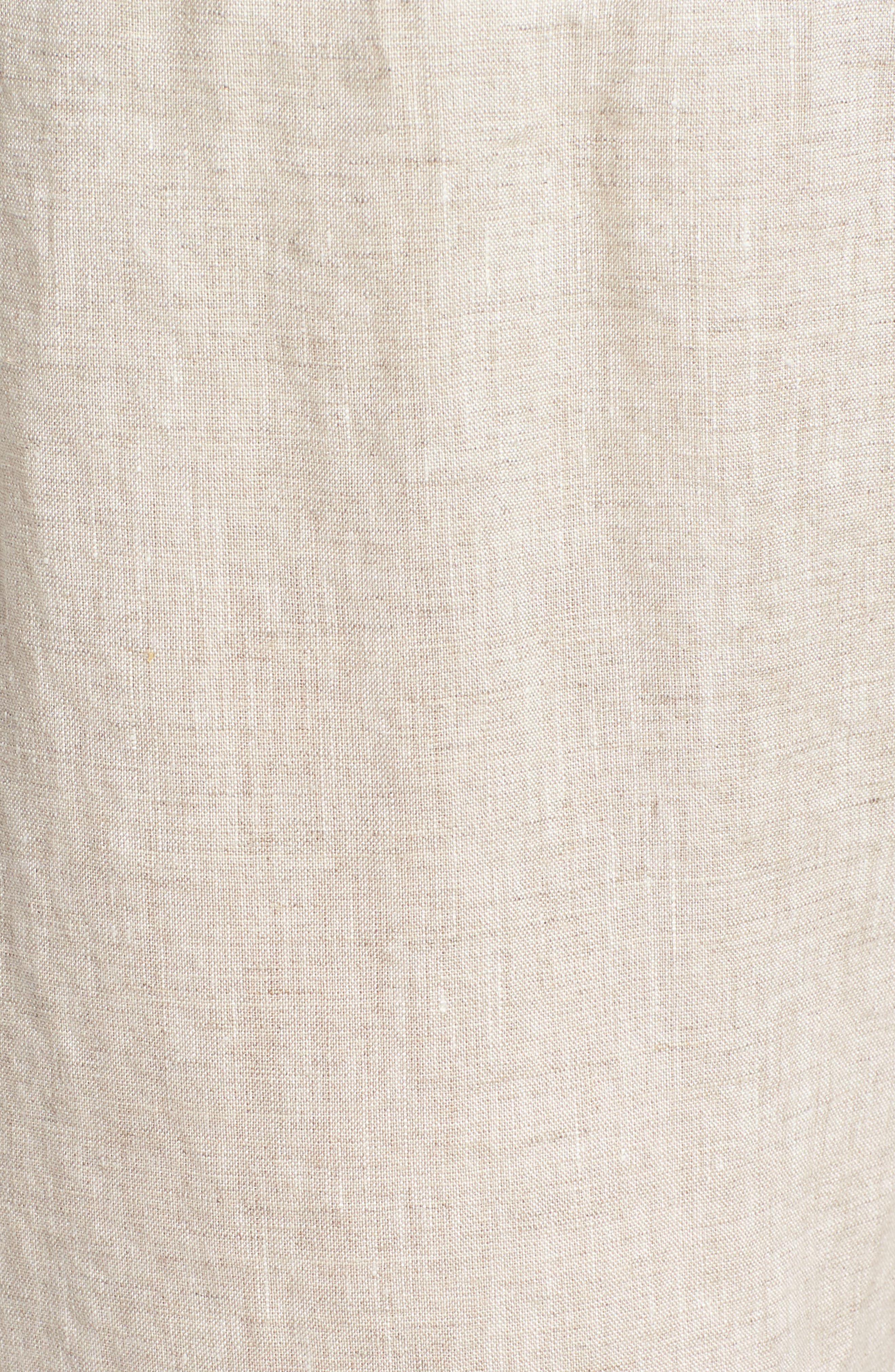Crop Straight Leg Linen Pants,                             Alternate thumbnail 6, color,                             Natural