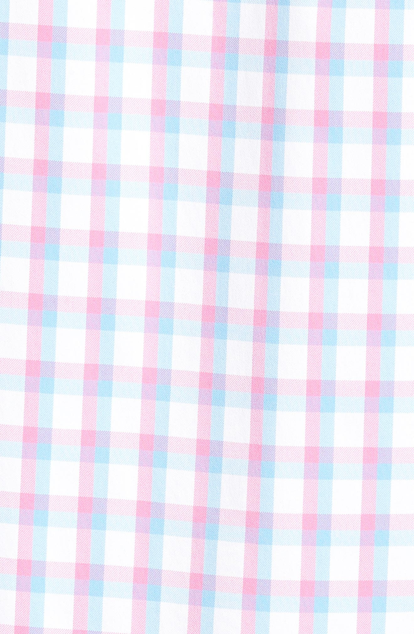 Slim Fit Check Performance Sport Shirt,                             Alternate thumbnail 5, color,                             Ultimo Check - Pacific Pink