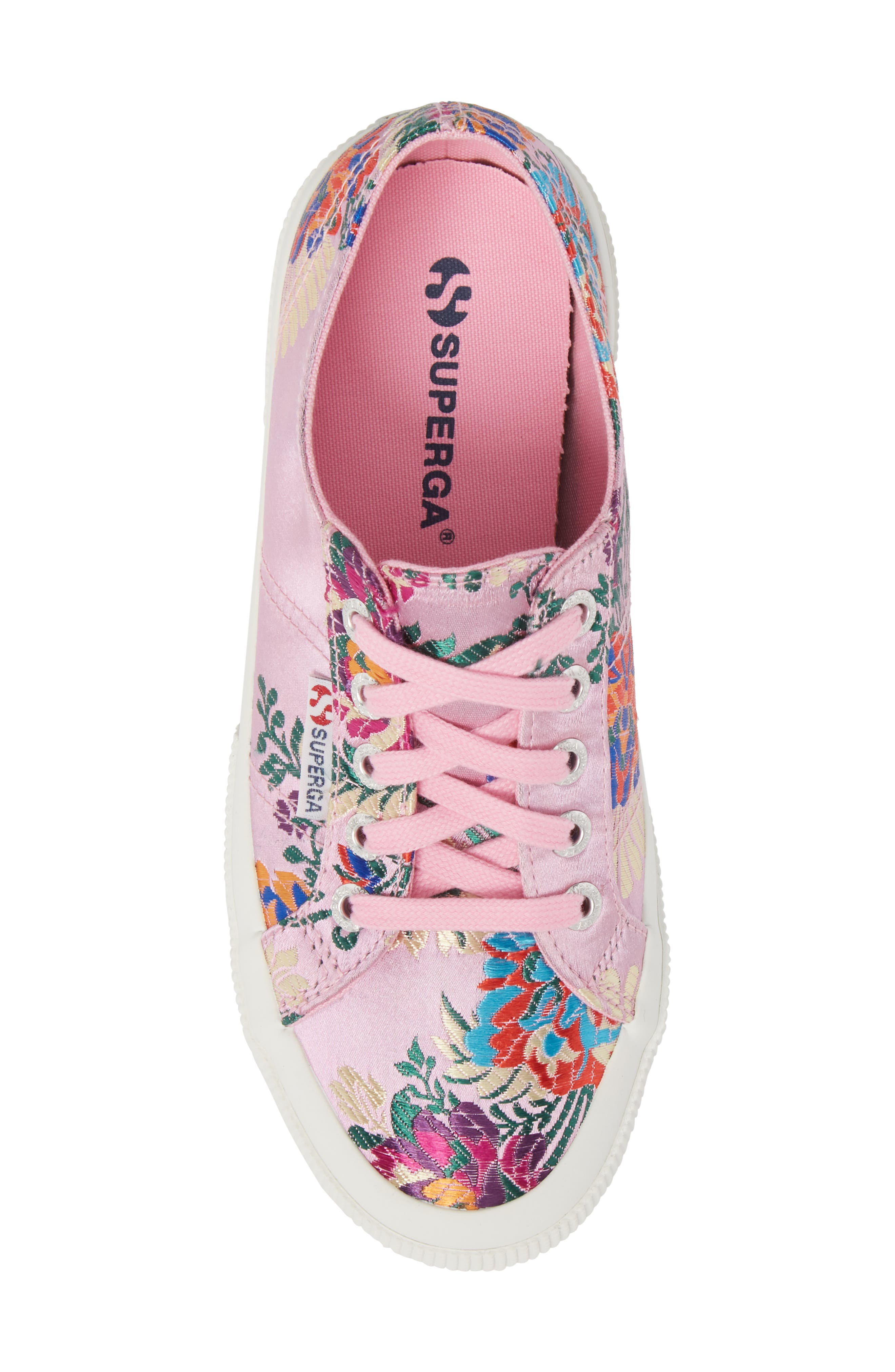 2750 Embroidered Sneaker,                             Alternate thumbnail 5, color,                             Pink