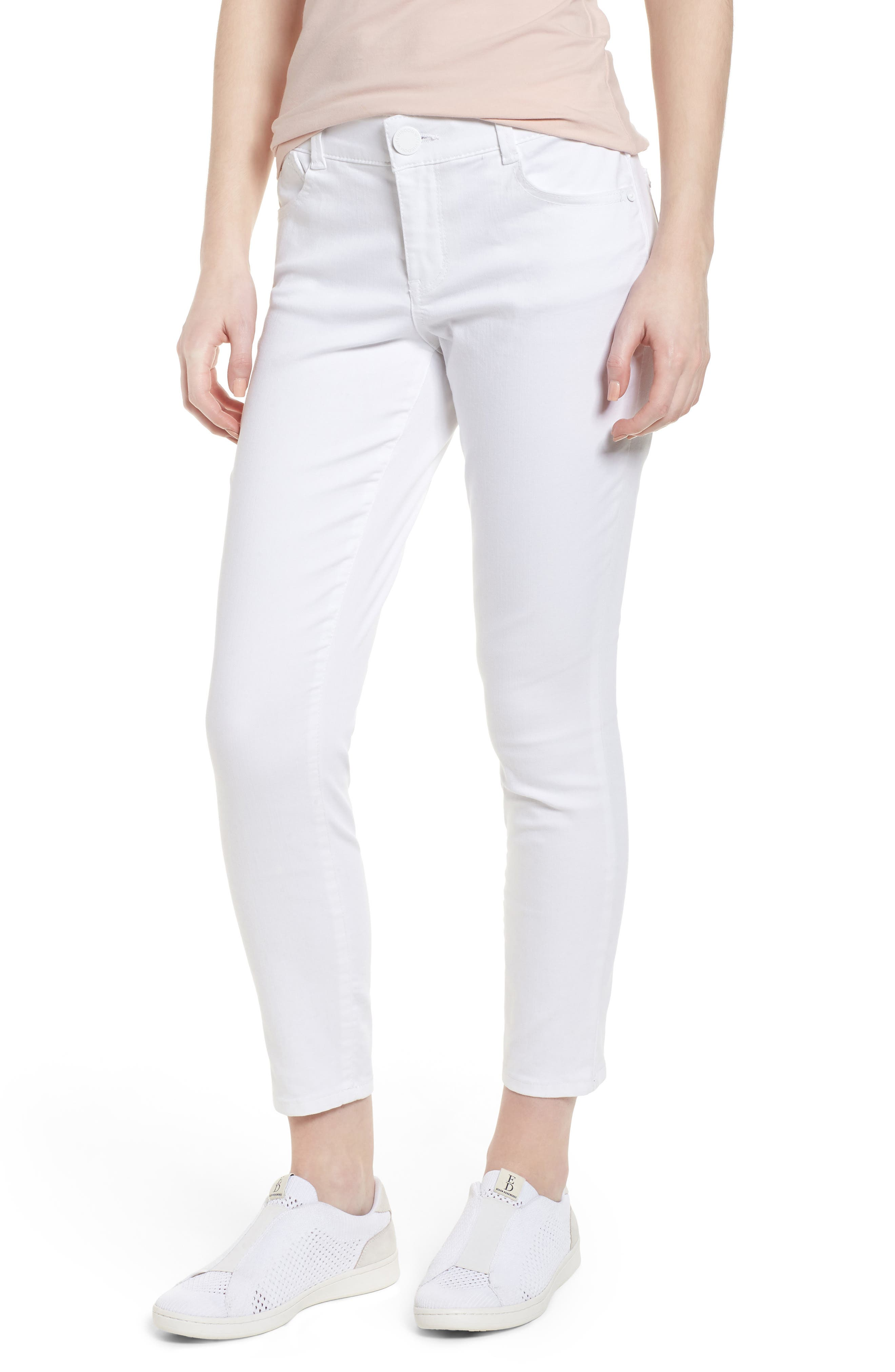 Ab-solution Ankle Skimmer Jeans,                             Main thumbnail 1, color,                             Optic White