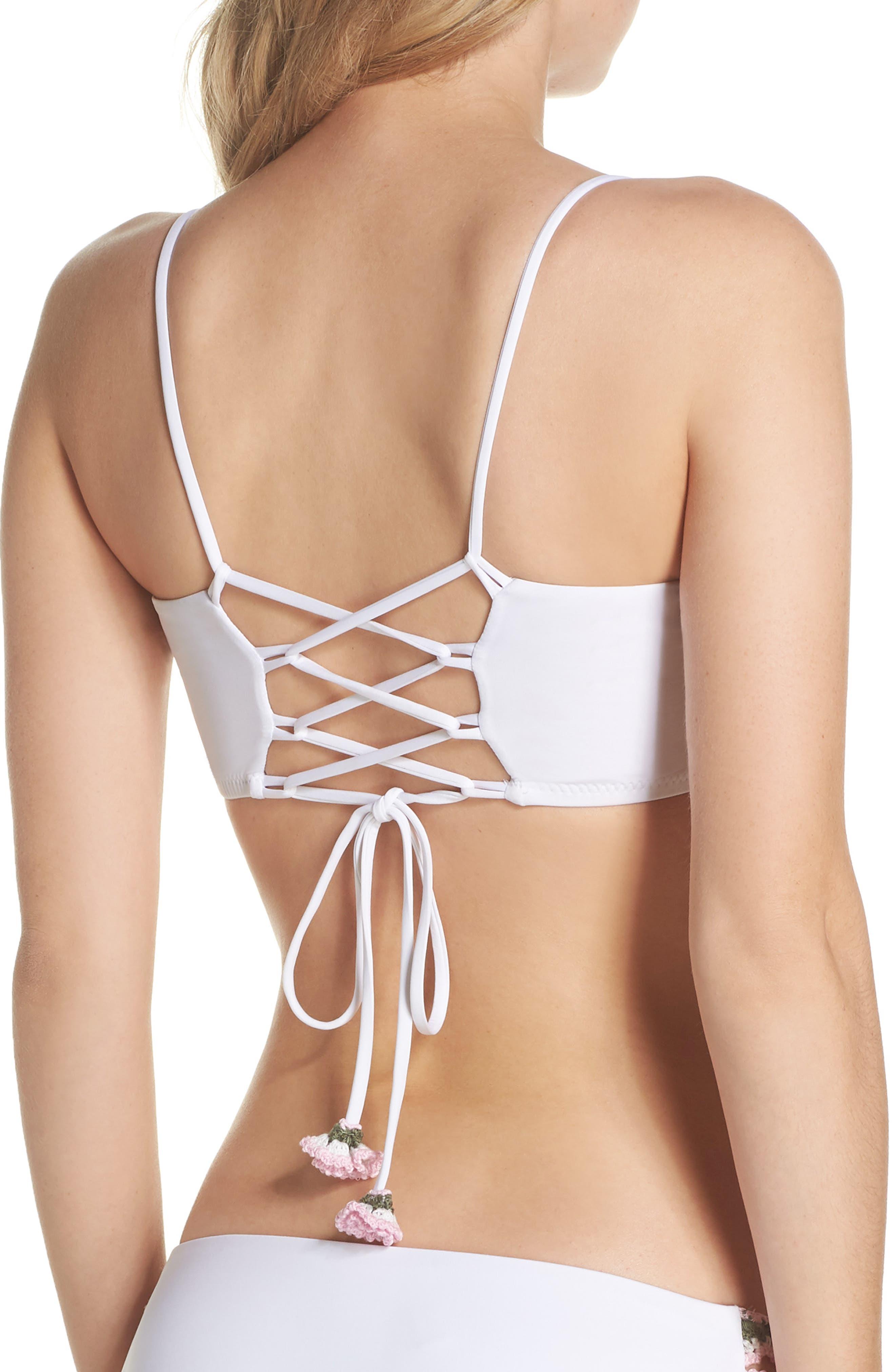 Medina Bandeau Bikini Top,                             Alternate thumbnail 2, color,                             White