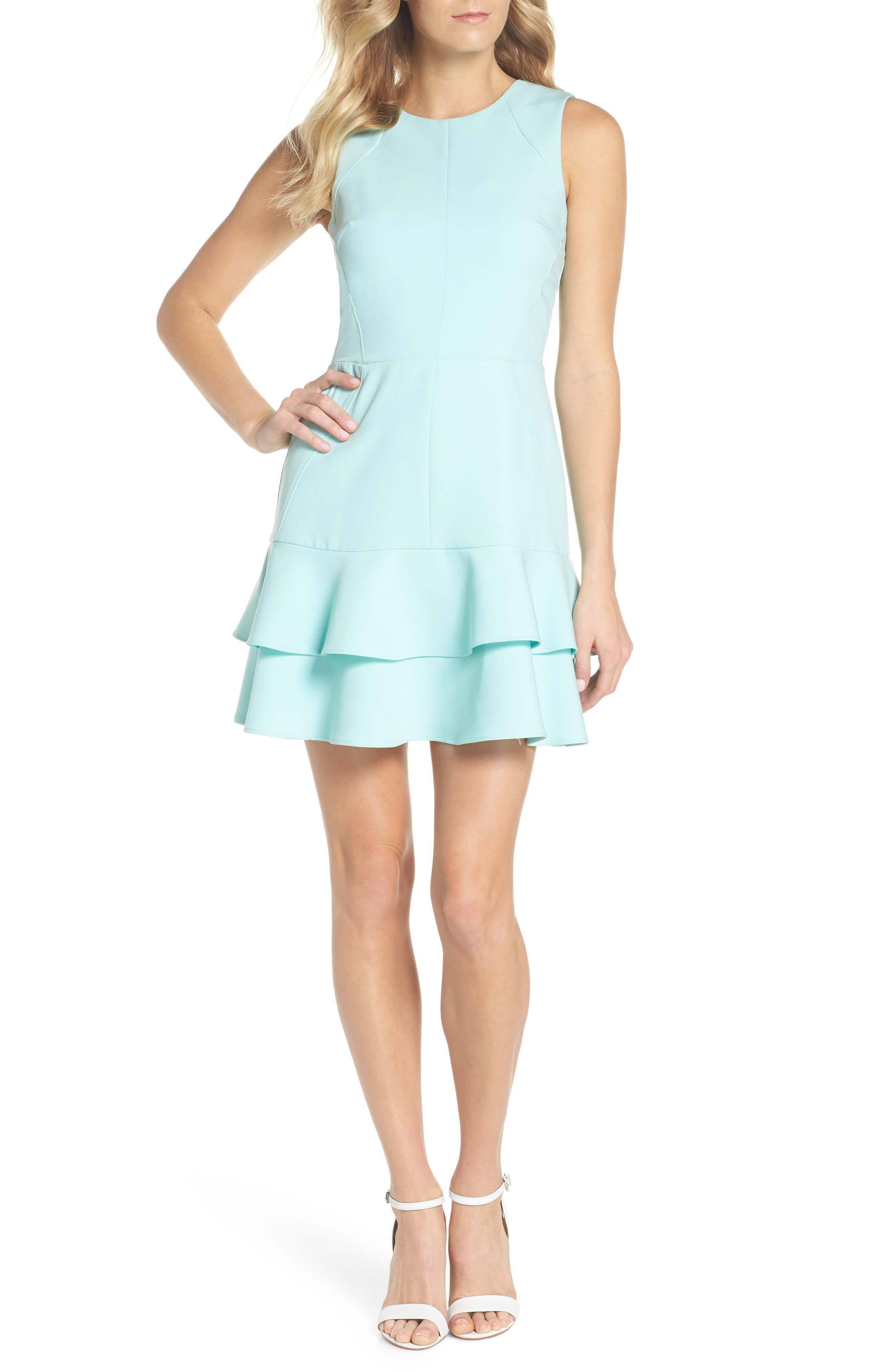 Lavinia Fit & Flare Dress,                             Main thumbnail 1, color,                             Mint