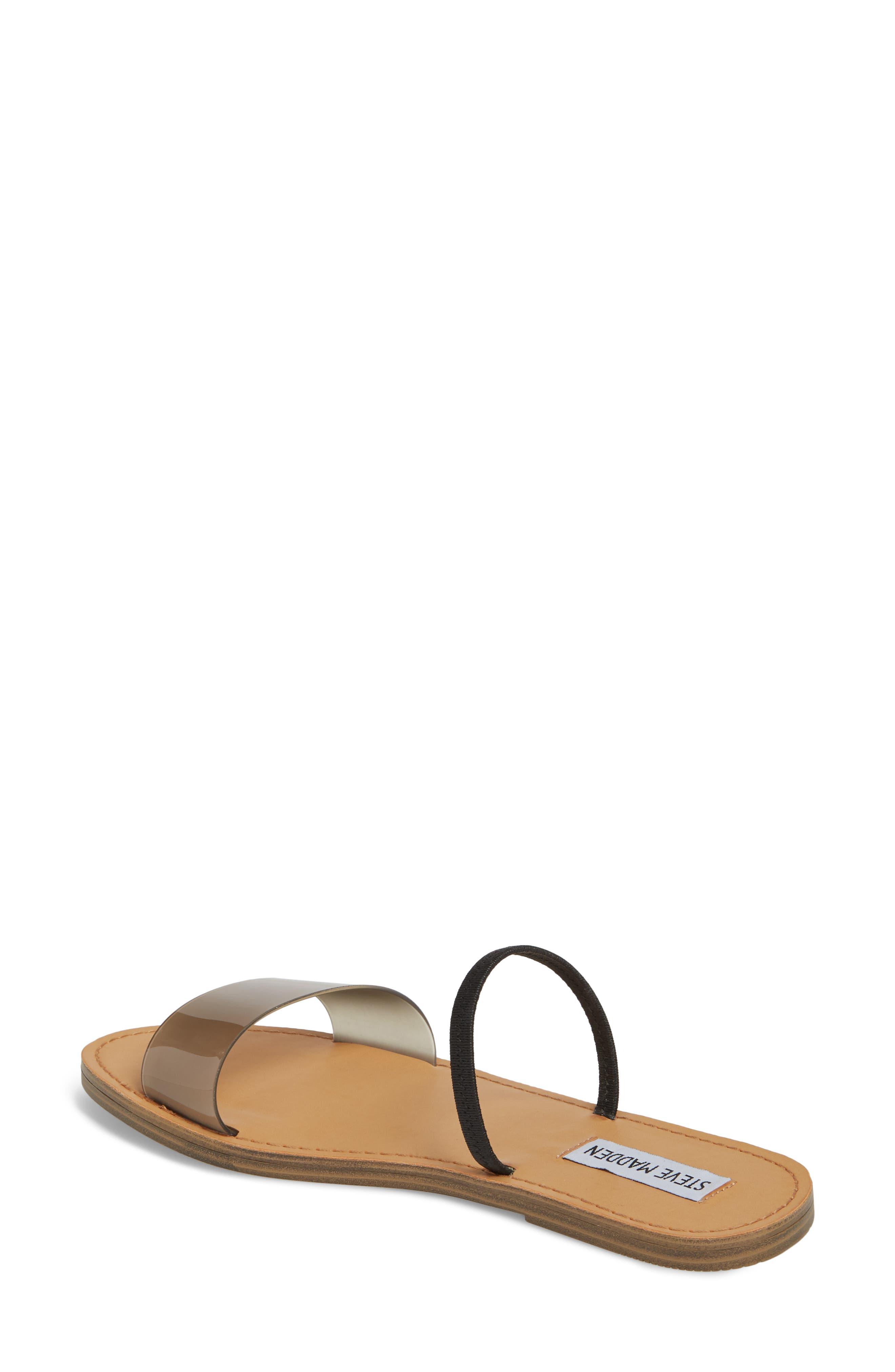 Dasha Strappy Slide Sandal,                             Alternate thumbnail 2, color,                             Smoke
