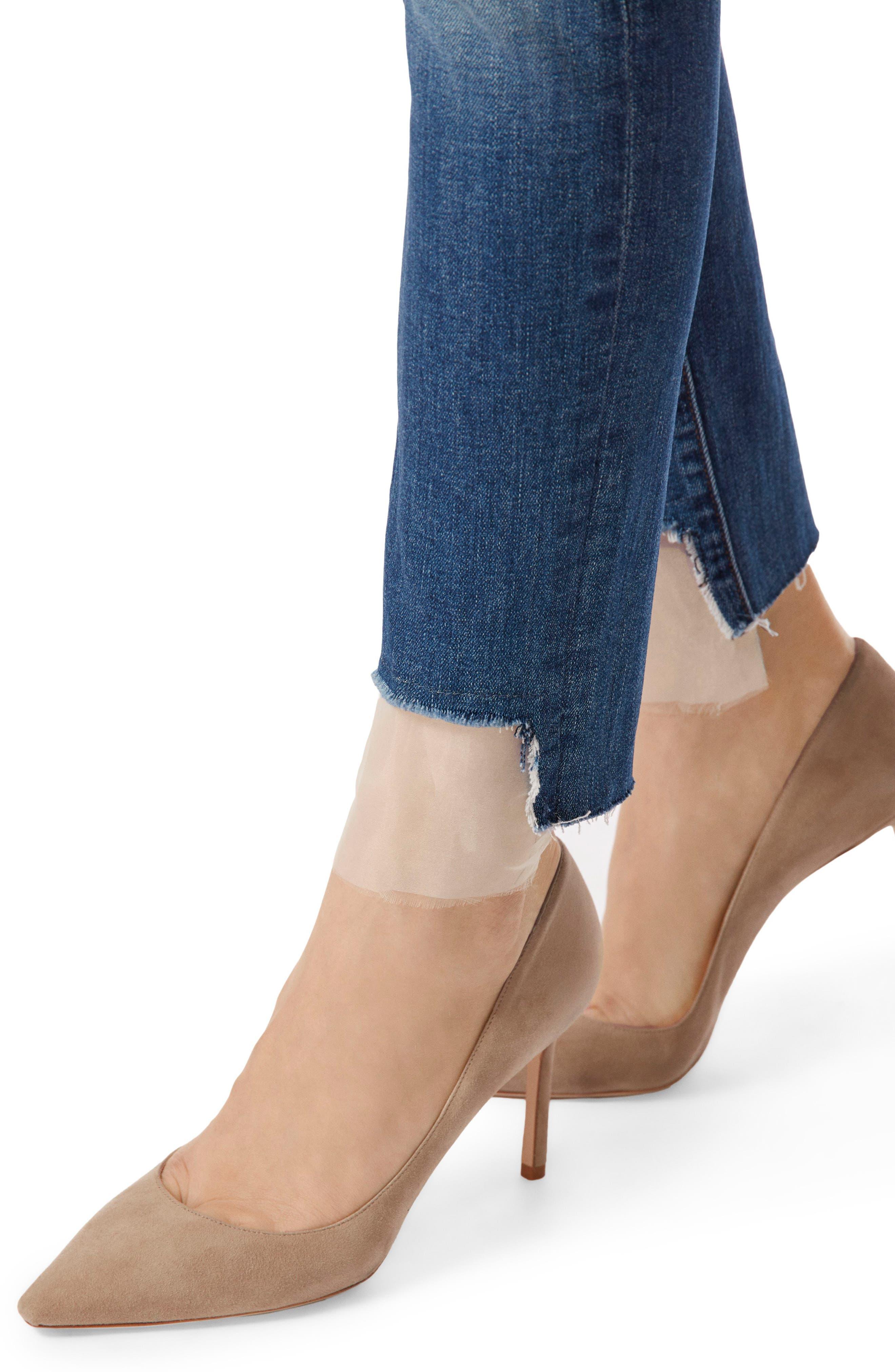 811 Step Hem Skinny Jeans,                             Alternate thumbnail 5, color,                             Gossamer