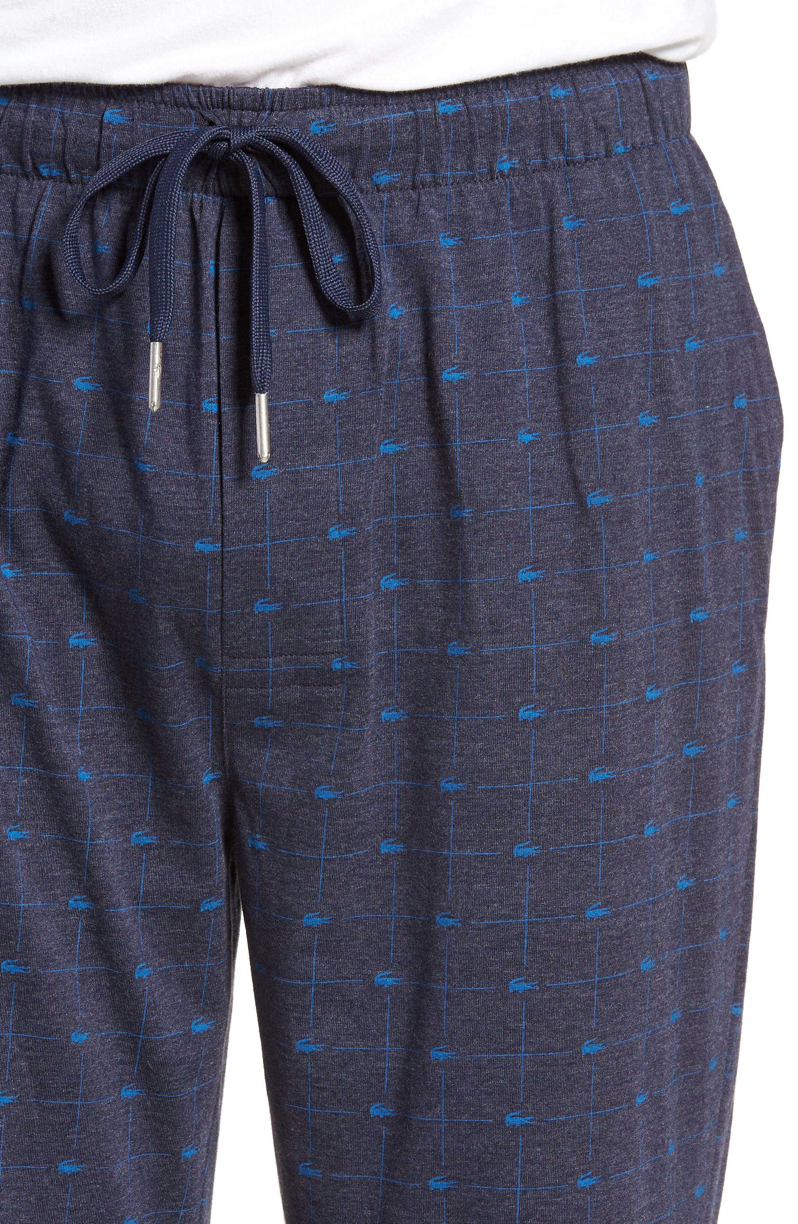 Print Lounge Pants,                             Alternate thumbnail 4, color,                             Classic Blue
