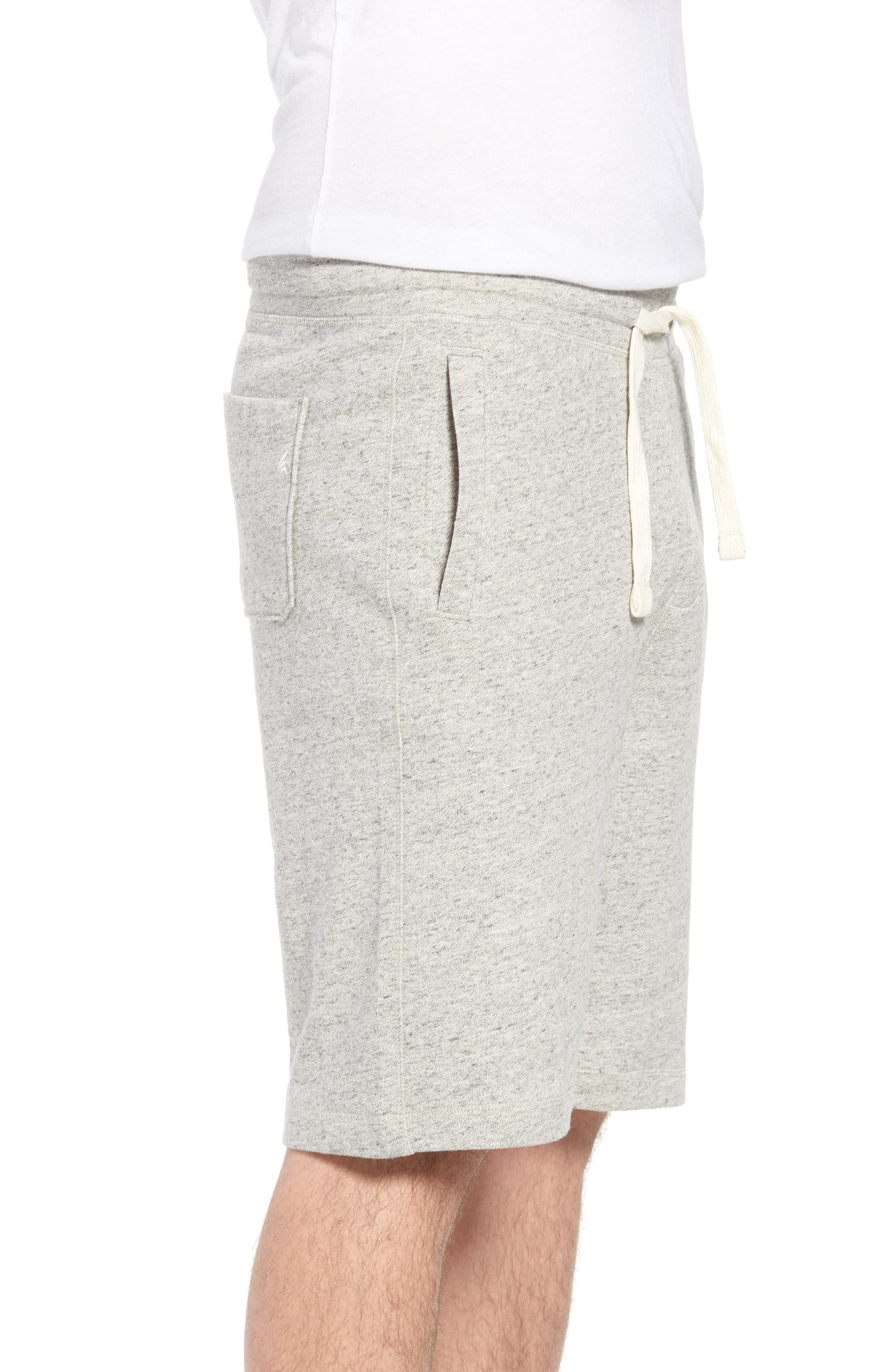 Stretch Cotton Terry Shorts,                             Alternate thumbnail 3, color,                             Grey Heather