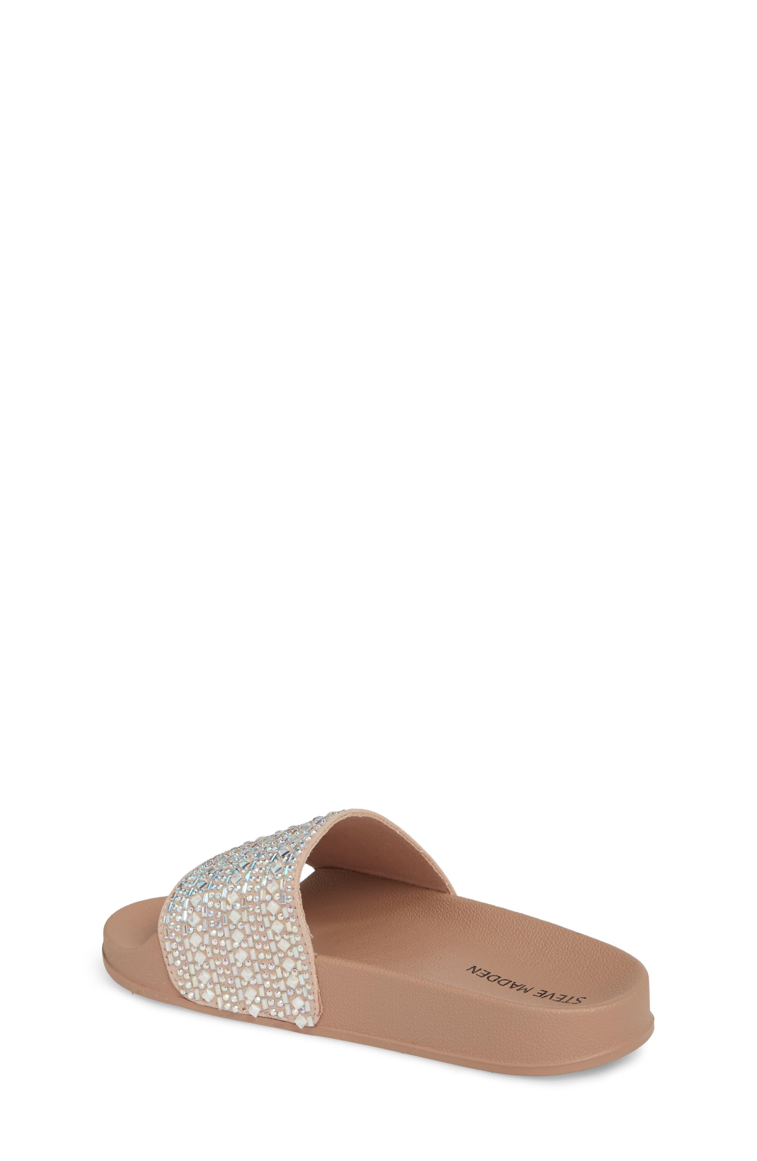 JDAZZLE Crystal Embellished Slide Sandal,                             Alternate thumbnail 2, color,                             Blush