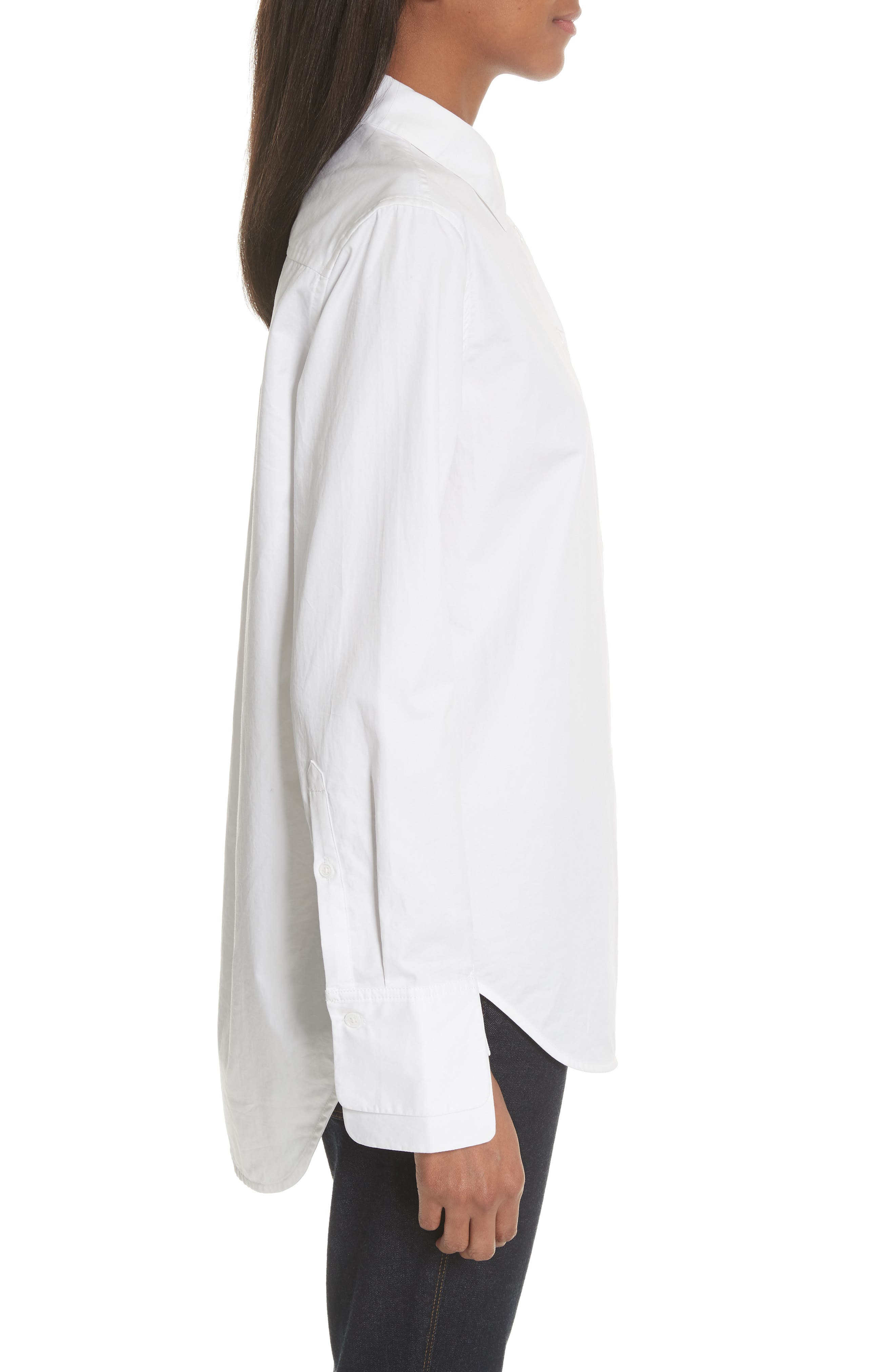 Essential Layered Split Cuff Blouse,                             Alternate thumbnail 3, color,                             Bright White