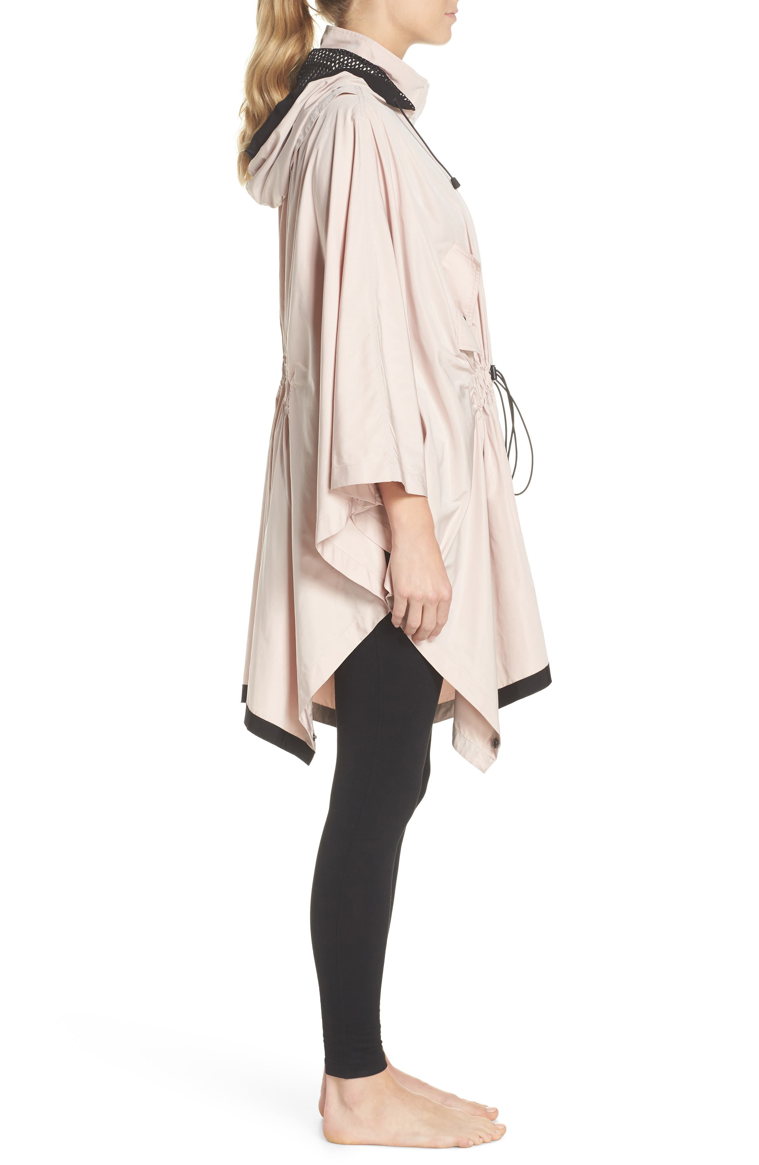 Stormie Poncho,                             Alternate thumbnail 3, color,                             Rose Grey/ Black