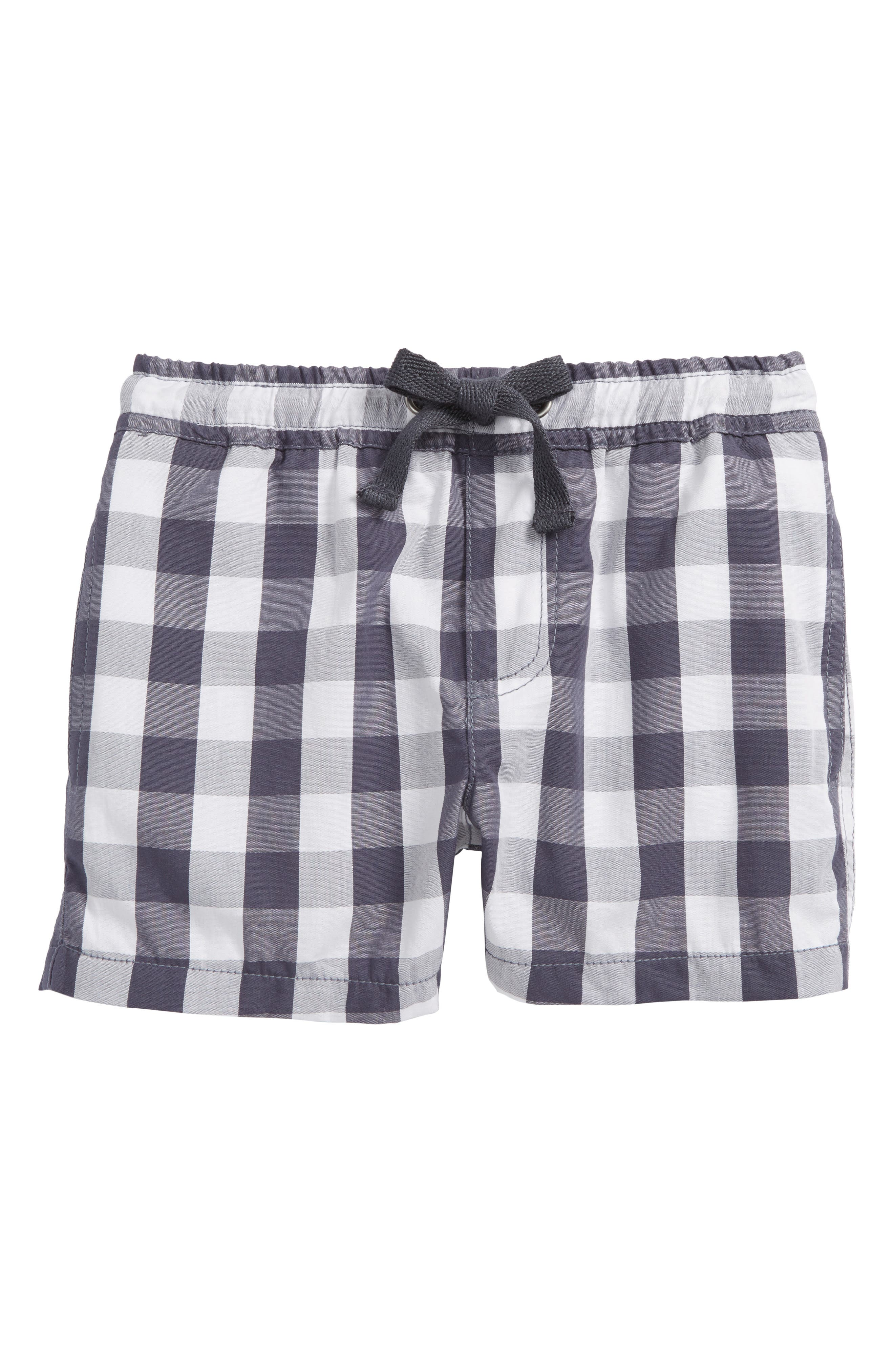 Anders Gingham Shorts,                         Main,                         color, Greyblue