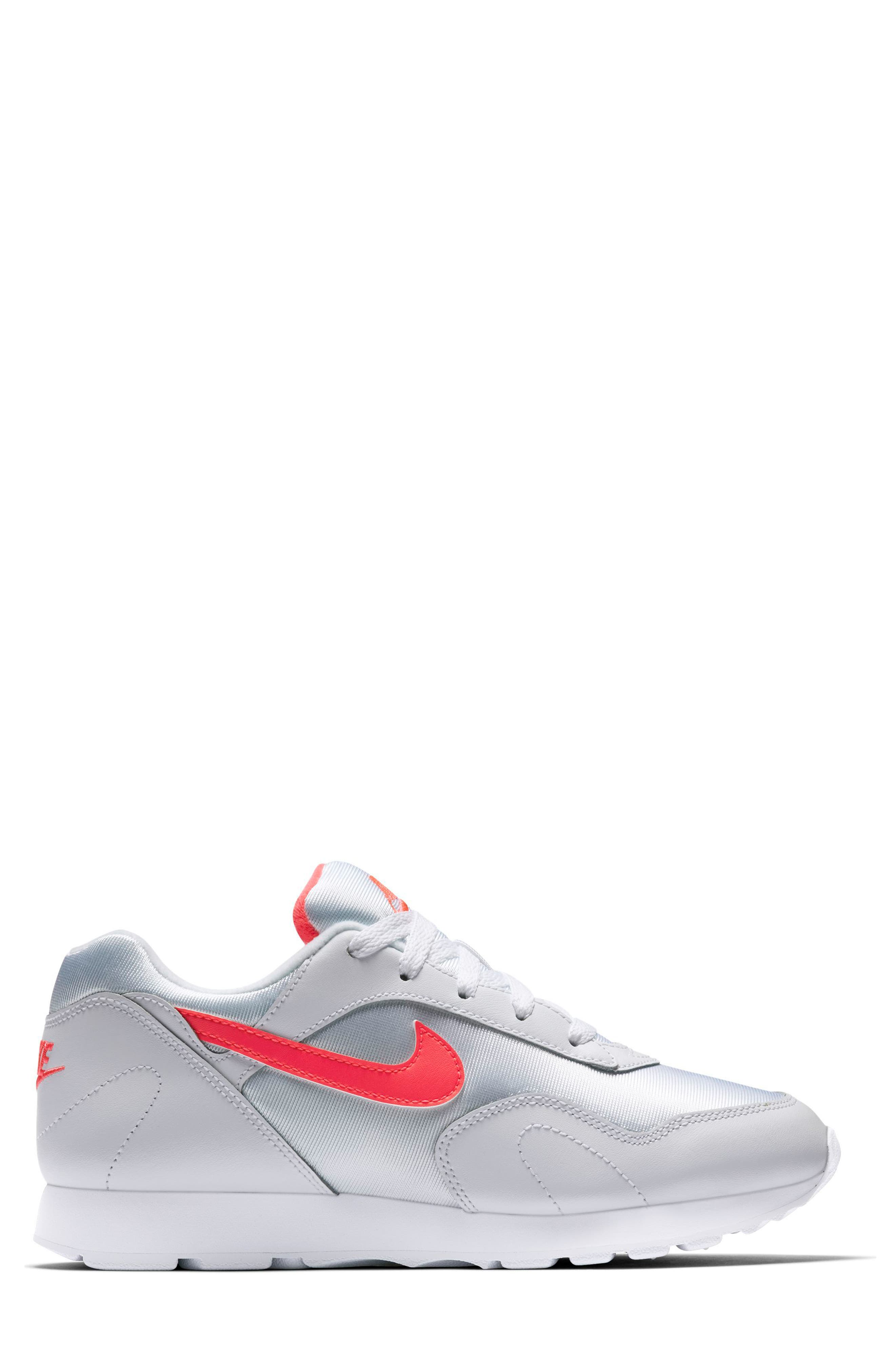 Outburst OG Sneaker,                             Alternate thumbnail 3, color,                             White/ Solar Red
