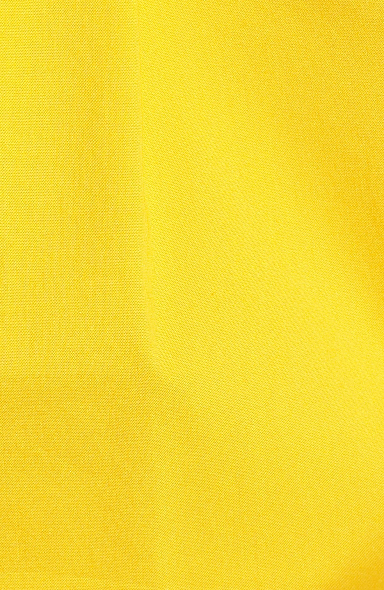 Sleeveless Shirtdress,                             Alternate thumbnail 5, color,                             Yellow Maize