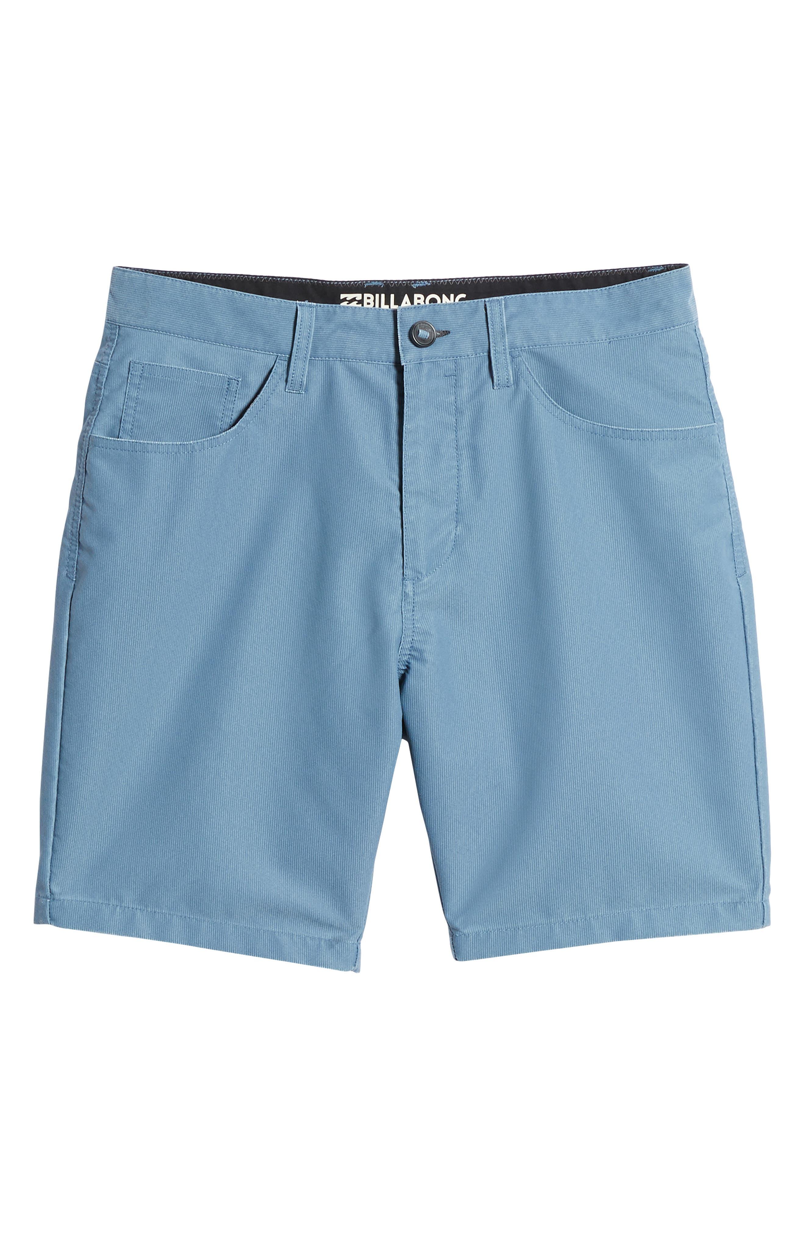 Outsider X Surf Corduroy Shorts,                             Alternate thumbnail 6, color,                             Powder Blue