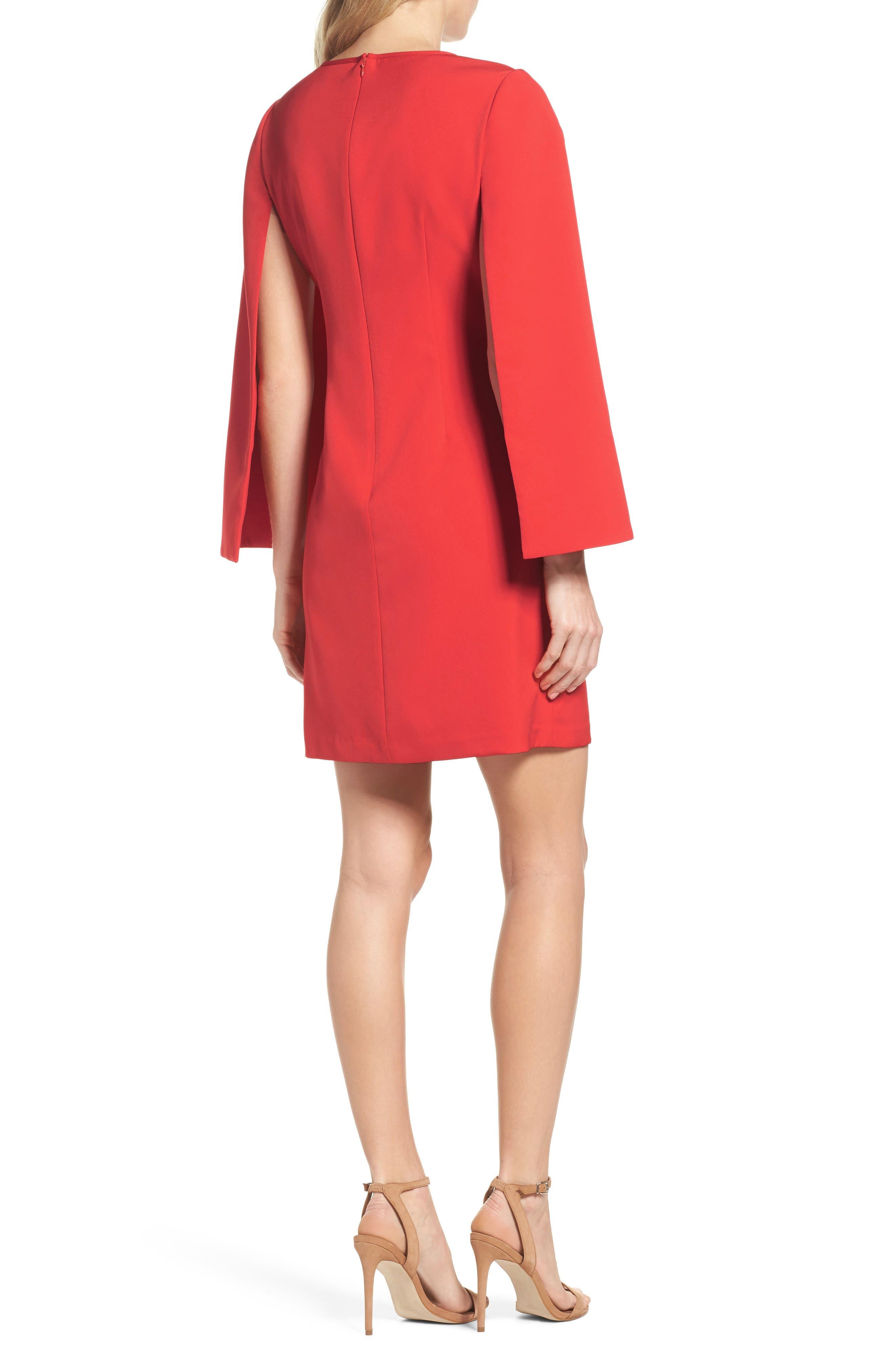 Alternate Image 2  - Eliza J Cape Sleeve Minidress