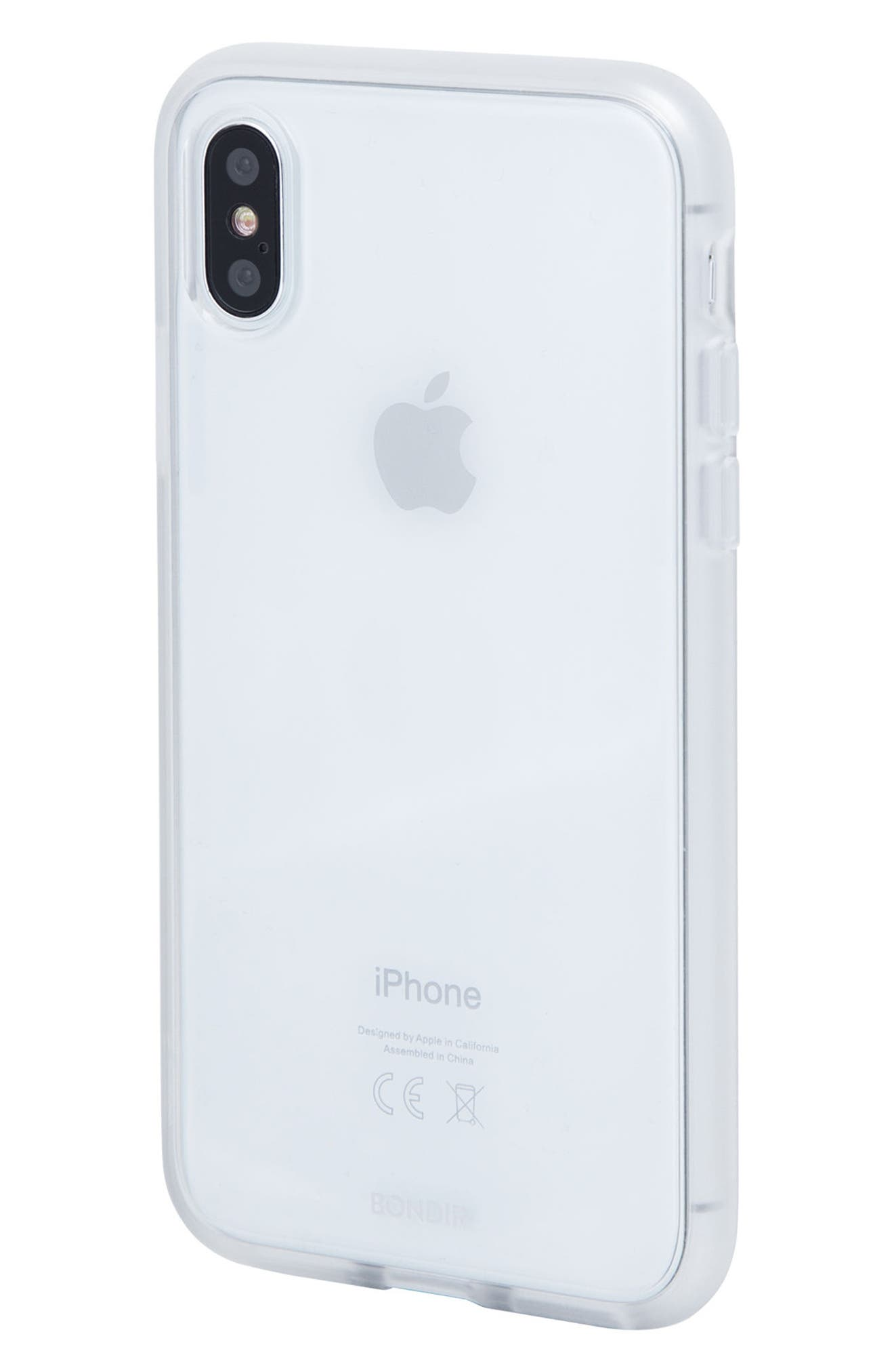 Clear iPhone X Case,                             Alternate thumbnail 2, color,                             Clear