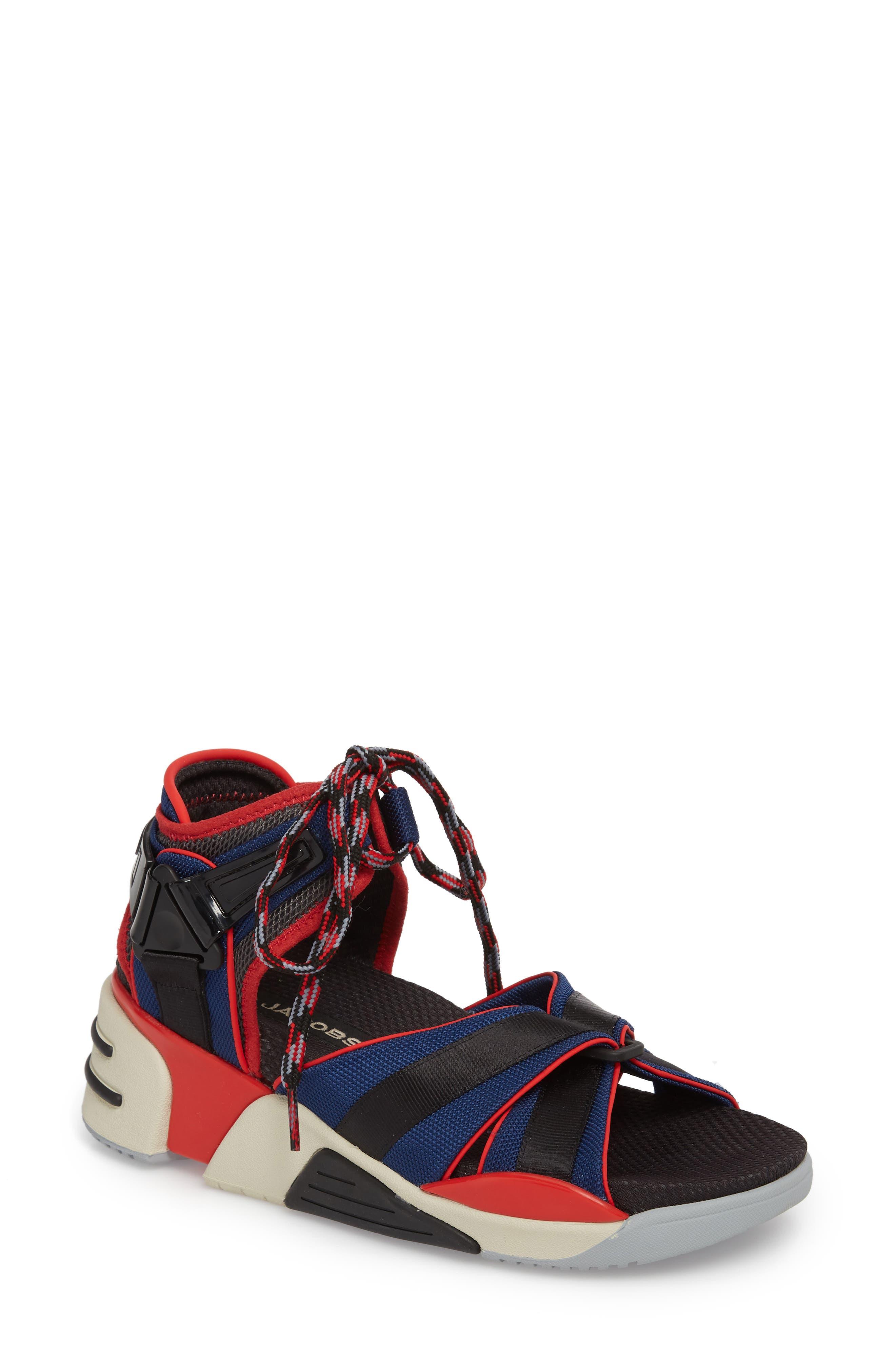 Somewhere Sport Sandal,                             Main thumbnail 1, color,                             Red Multi