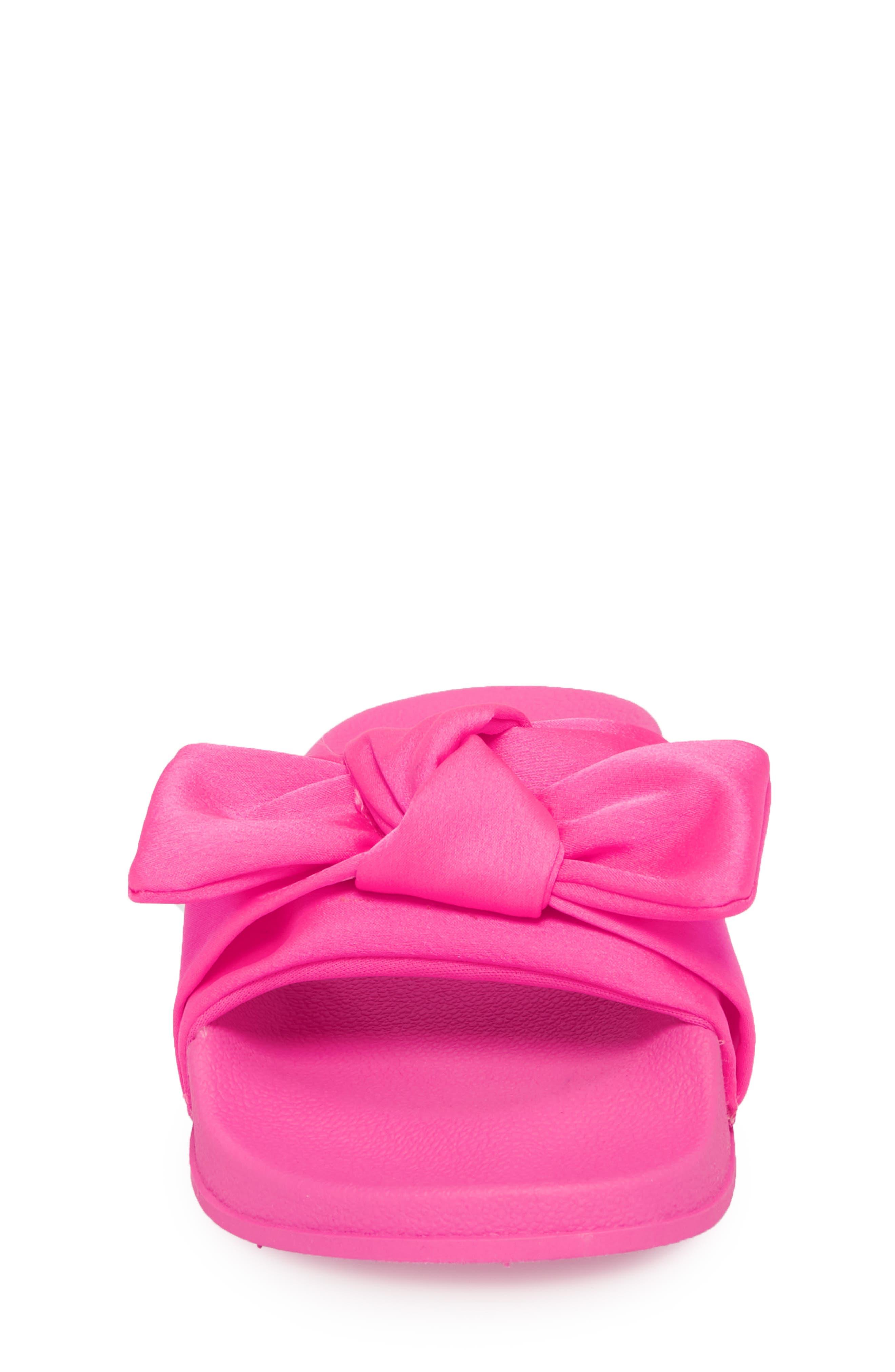 JSilky Slide Sandal,                             Alternate thumbnail 4, color,                             Hot Pink