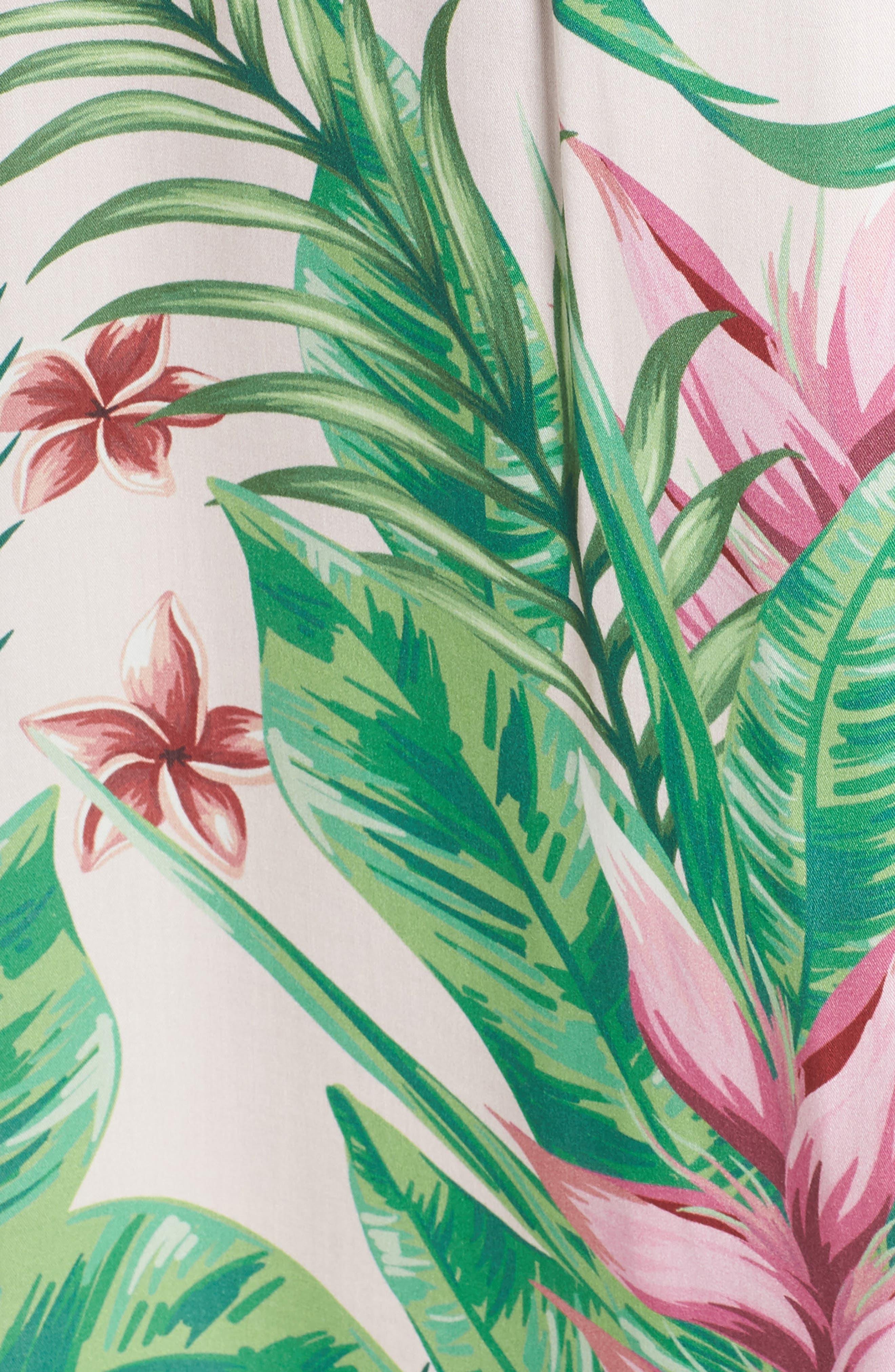 Floral Print Robe,                             Alternate thumbnail 5, color,                             Avalon Palm