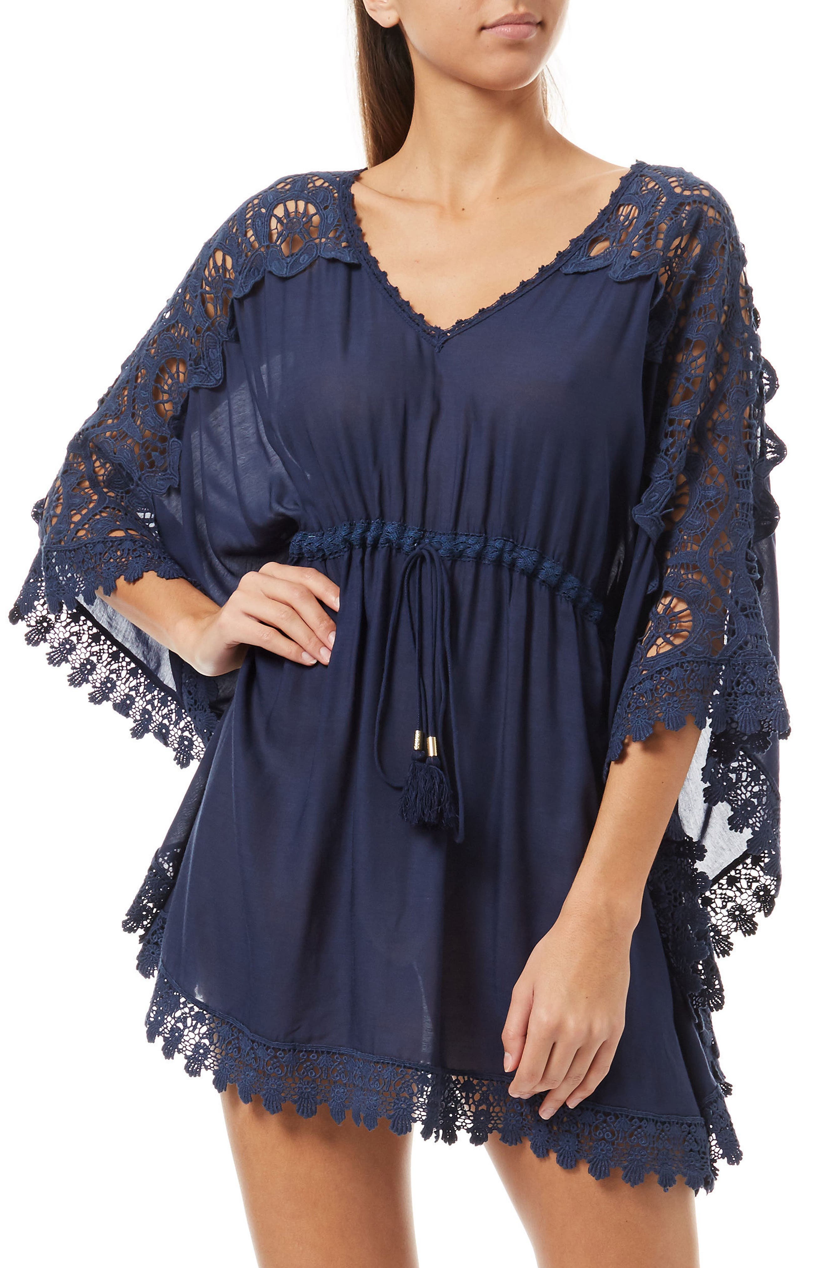 Roby Cover-Up Dress,                         Main,                         color, Navy