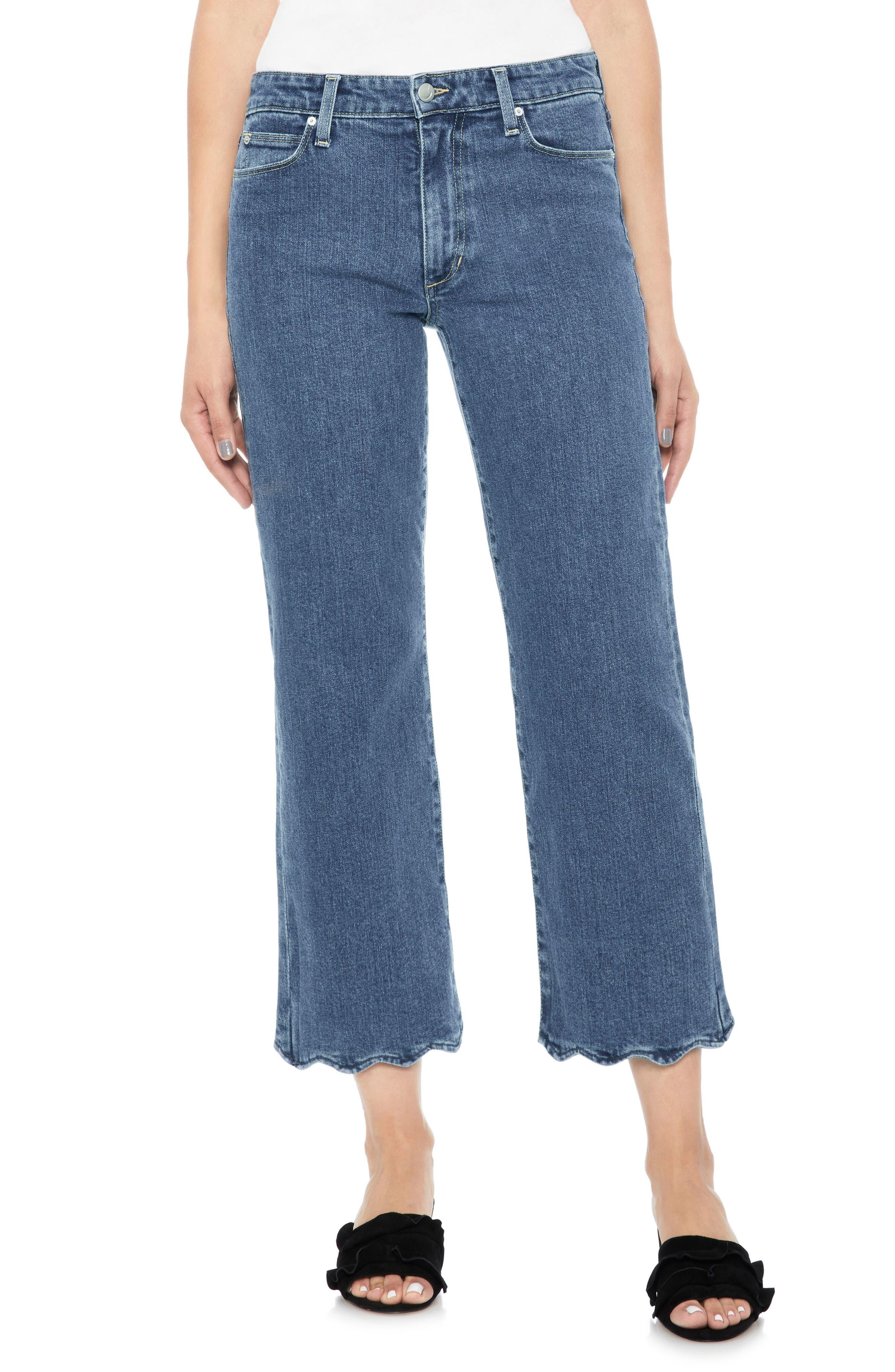 Joe's Fashion Flare Wavy Hem Crop Jeans (Kenzy)