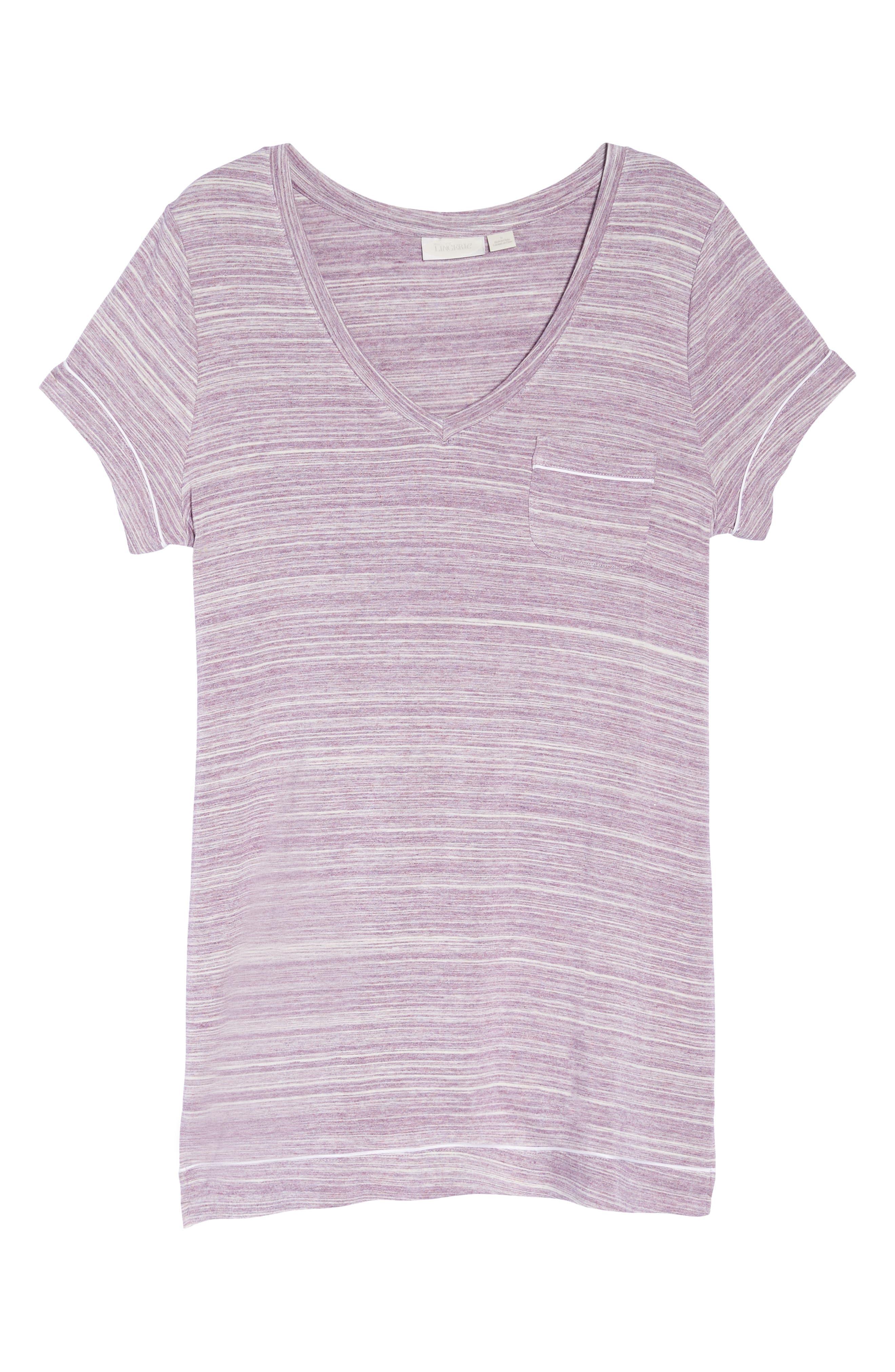 Moonlight Sleep Shirt,                             Alternate thumbnail 6, color,                             Purple Spacedye