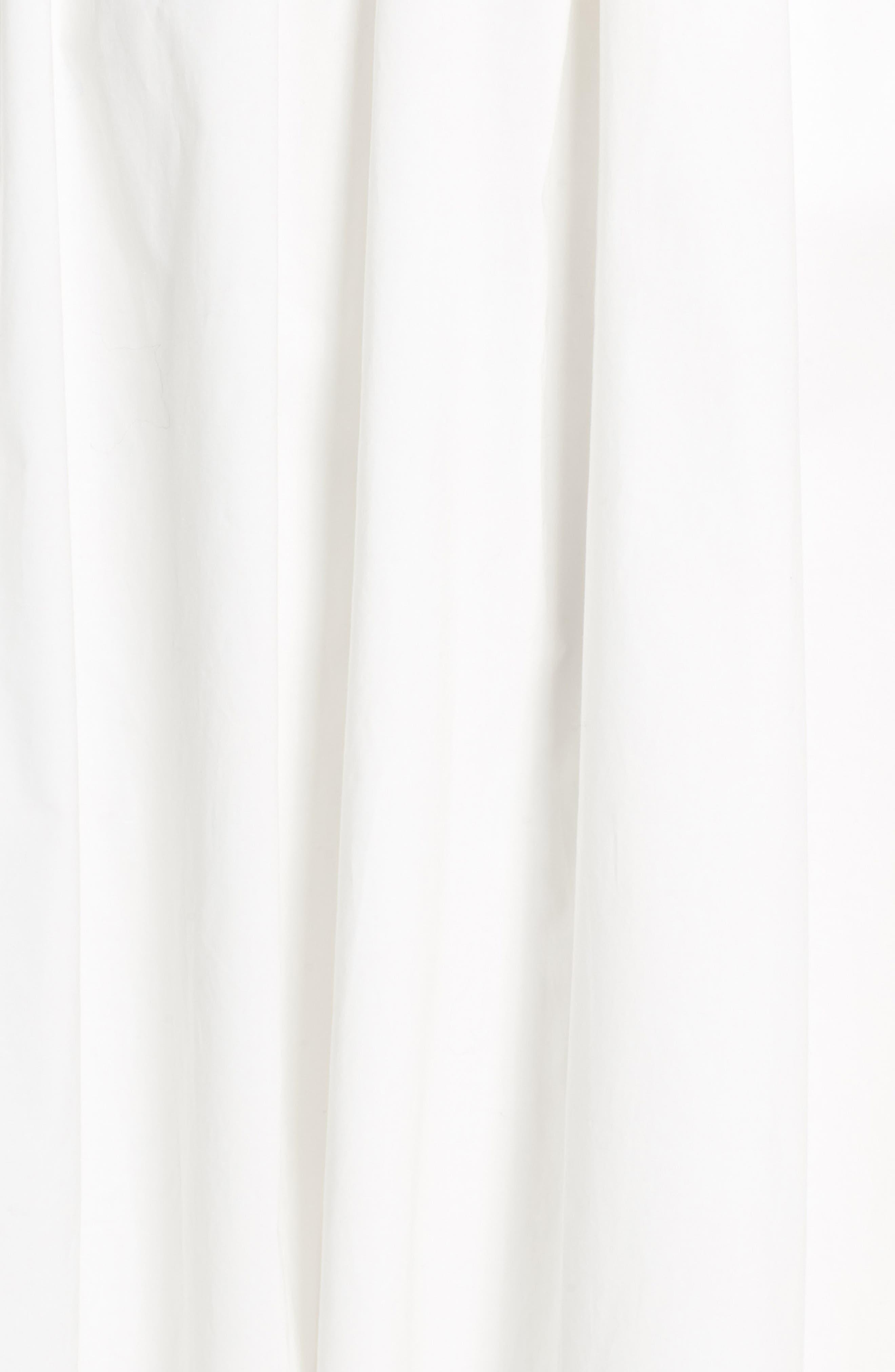 Tie Back Midi Dress,                             Alternate thumbnail 6, color,                             White