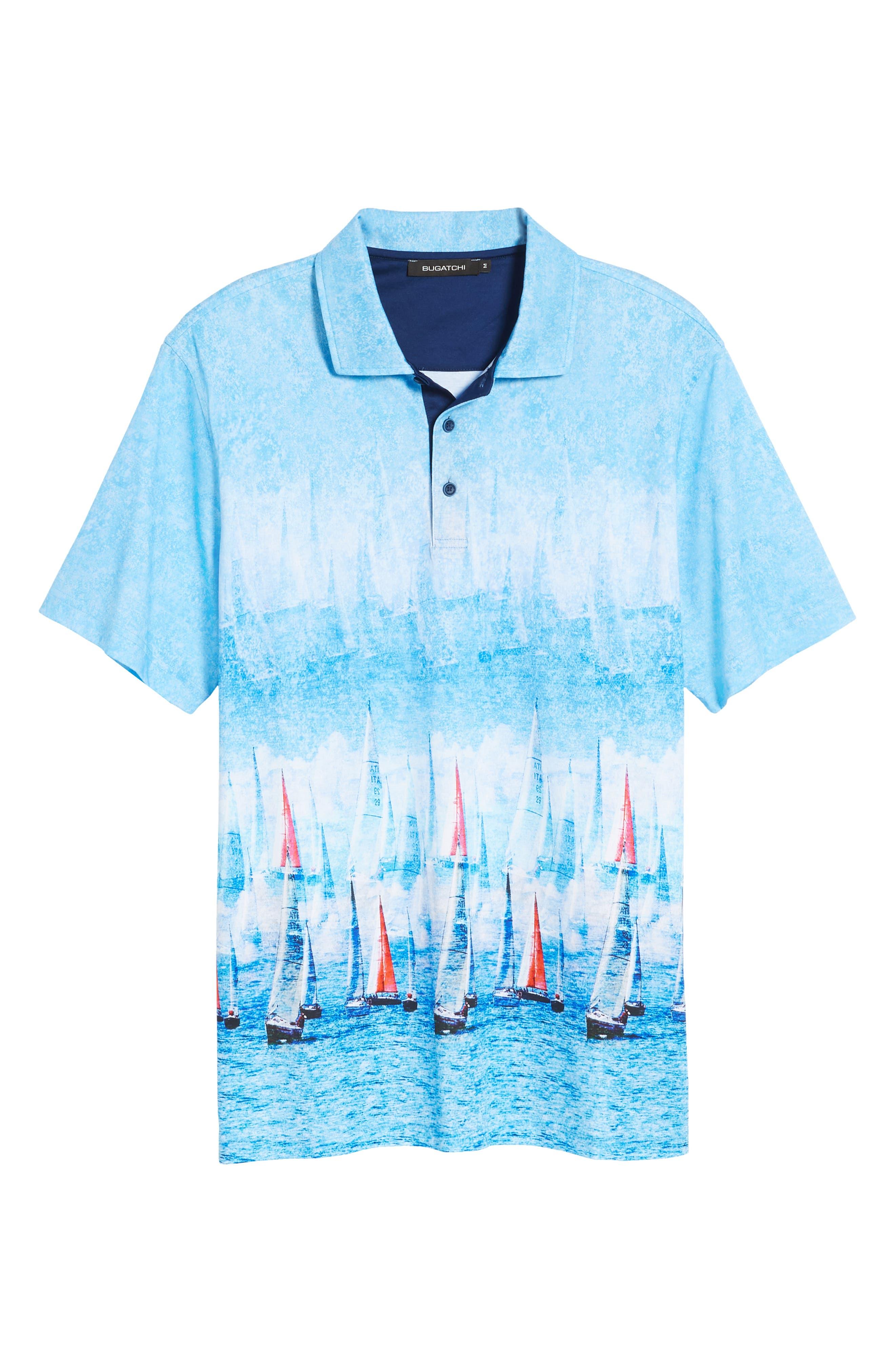 Knit Polo,                             Alternate thumbnail 6, color,                             Ocean