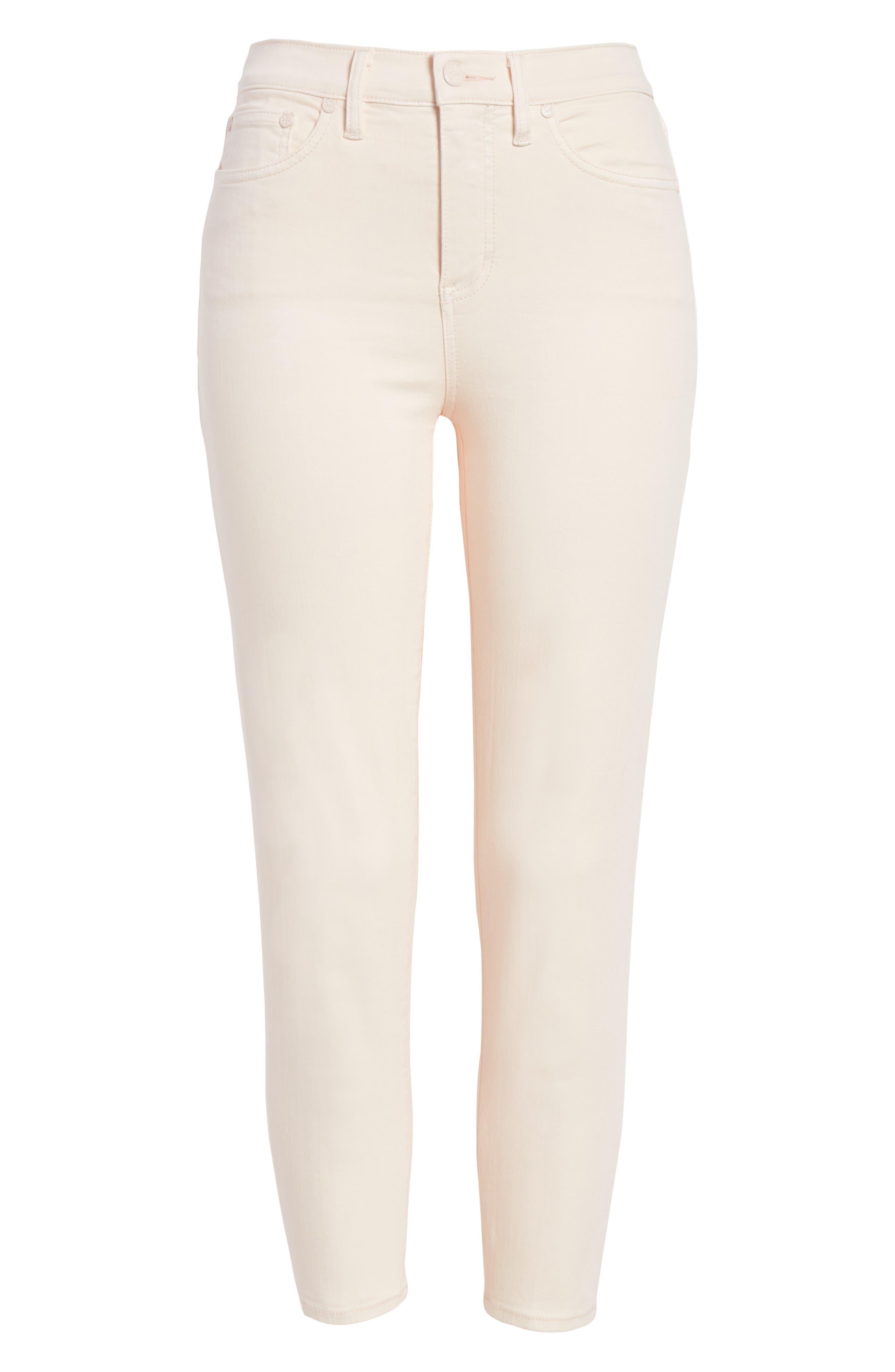 Mara Crop Skinny Jeans,                             Alternate thumbnail 6, color,                             Ballet Pink