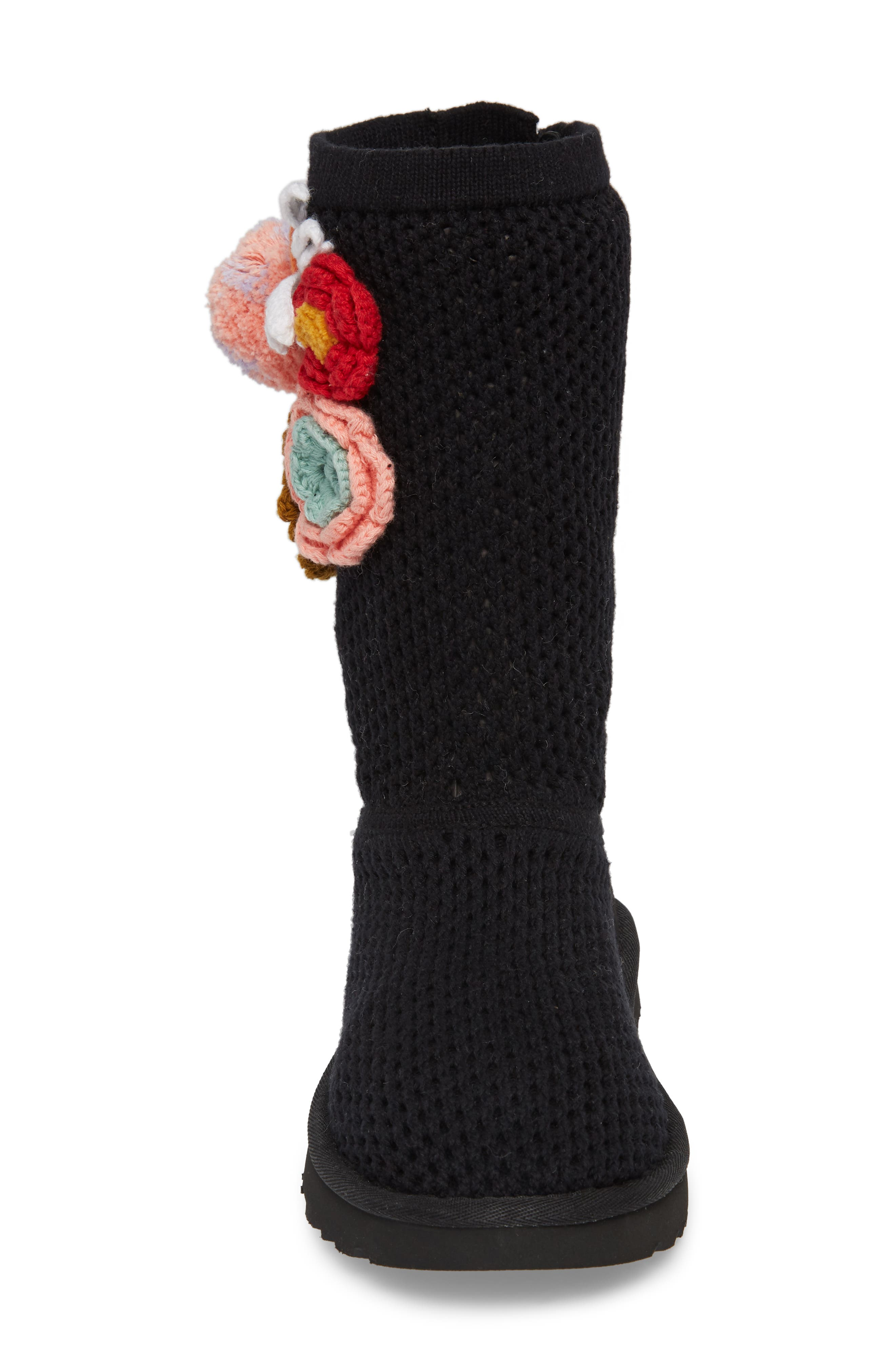 Crochet Classic Tall Boot,                             Alternate thumbnail 4, color,                             Black
